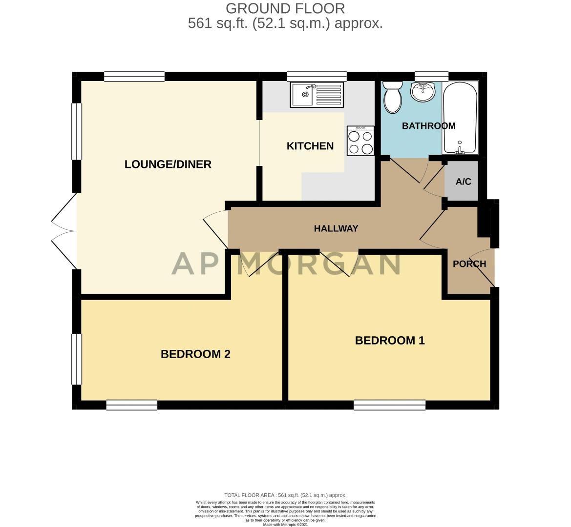 2 bed flat for sale in Design Close - Property Floorplan
