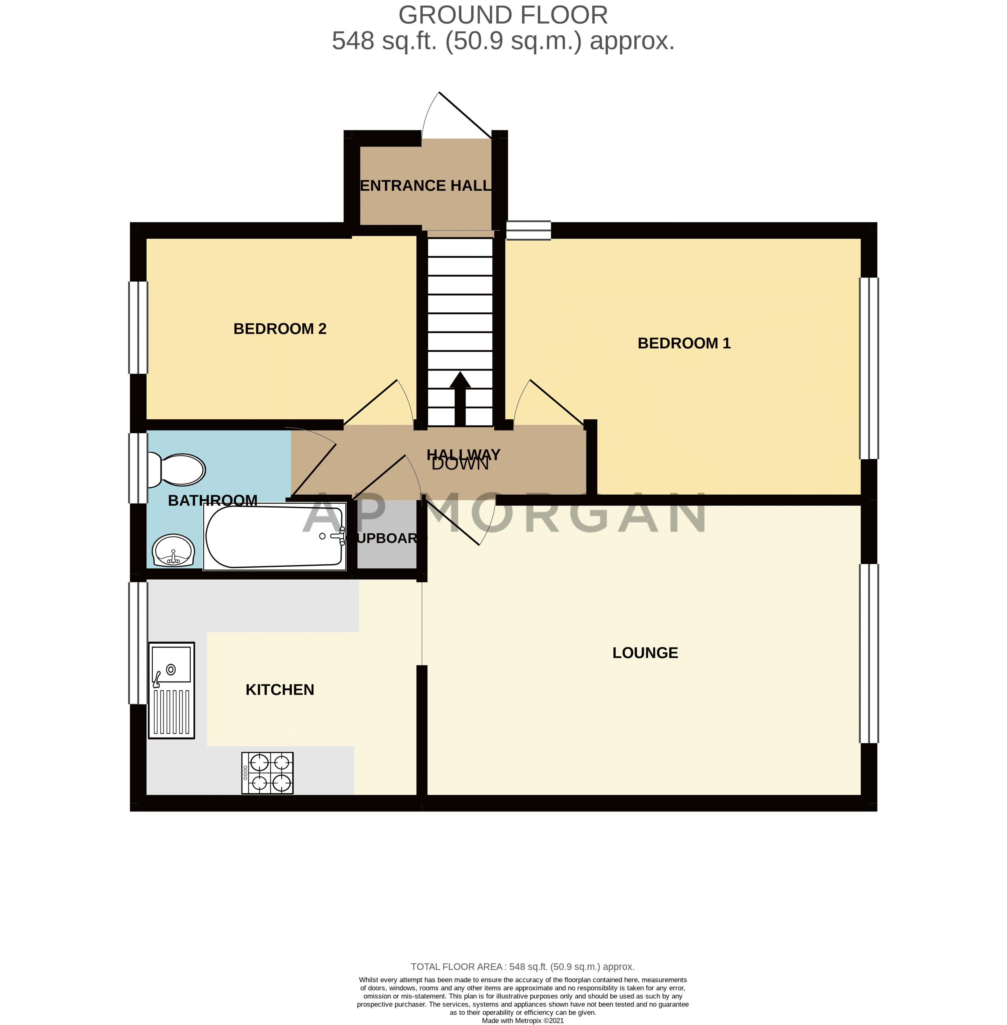 2 bed flat for sale in Bowes Road - Property Floorplan