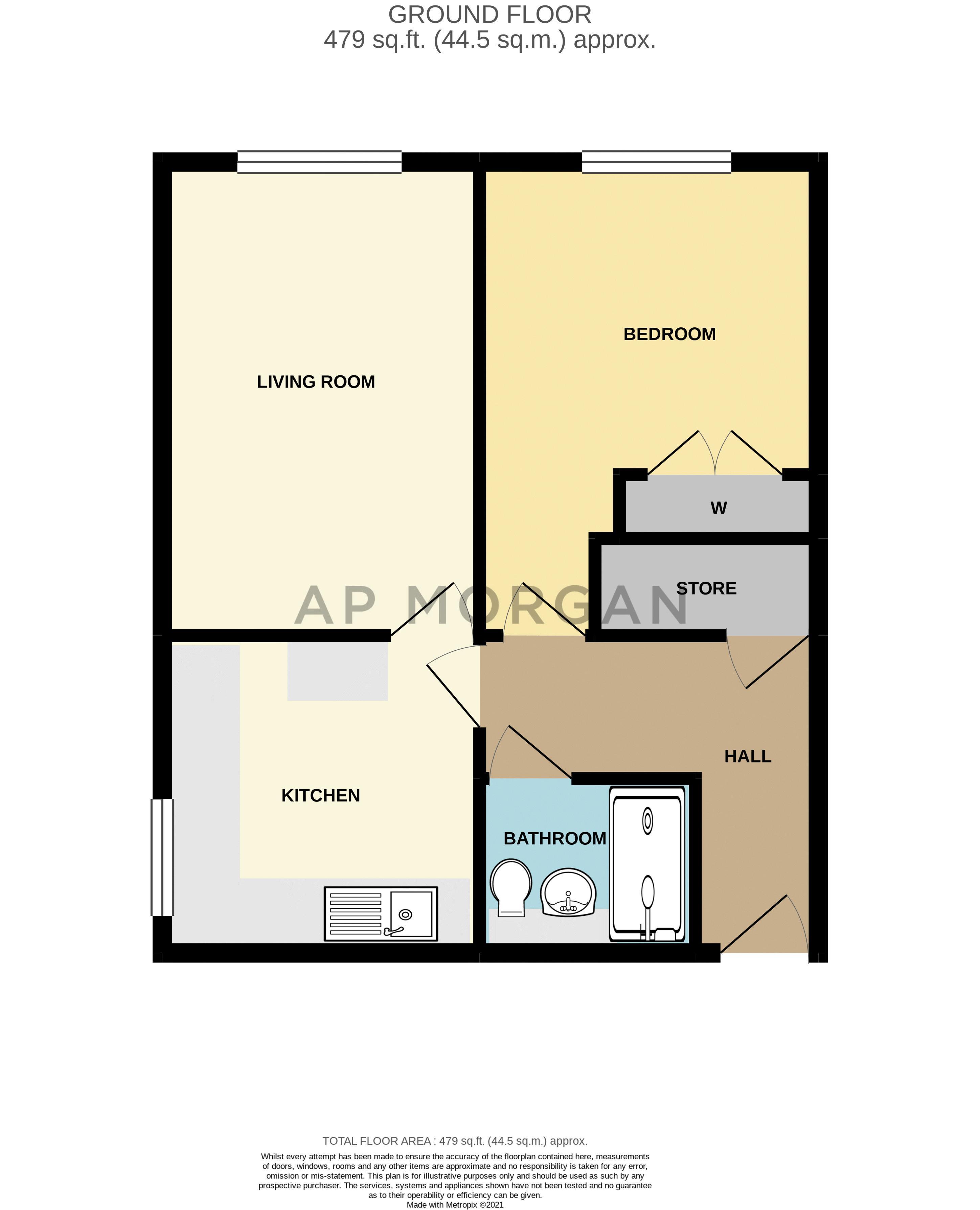 1 bed flat for sale in Lea Croft Road - Property Floorplan