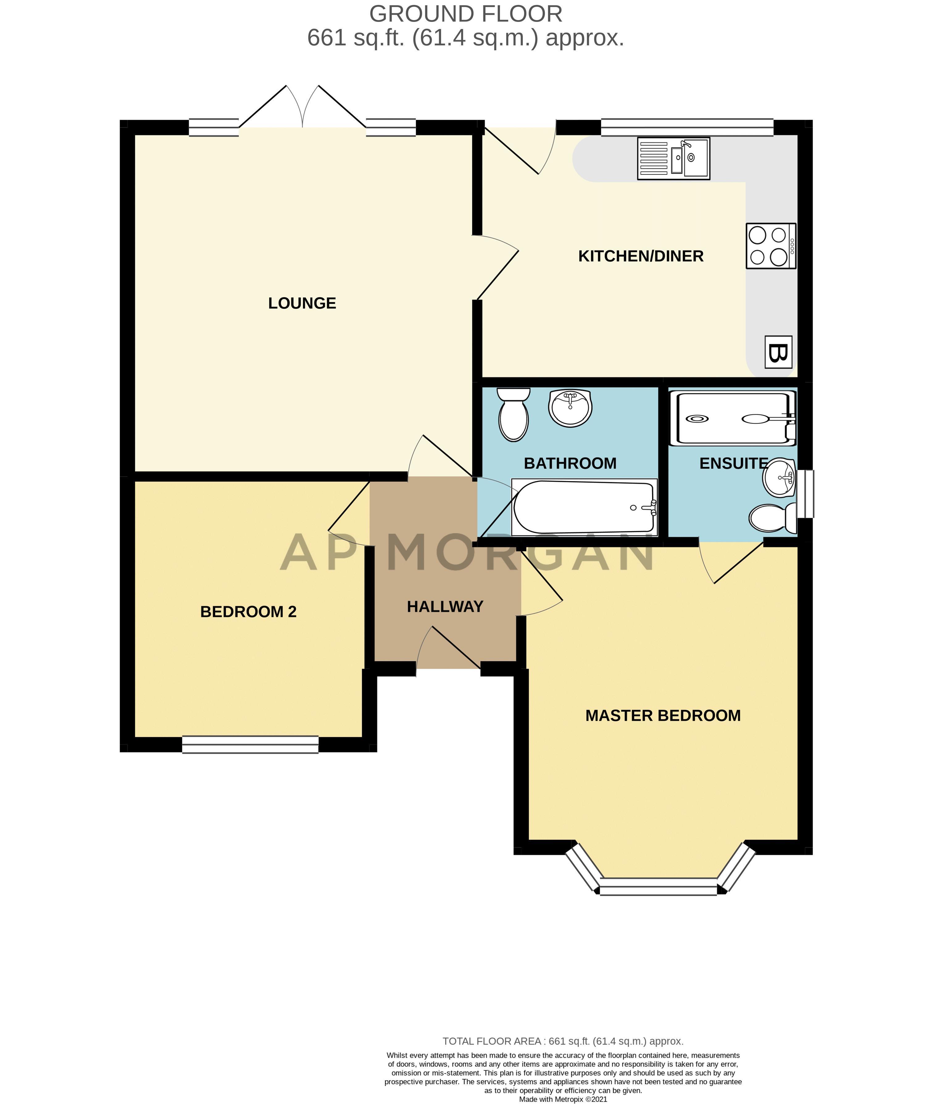 2 bed bungalow for sale in Beecher Street - Property Floorplan