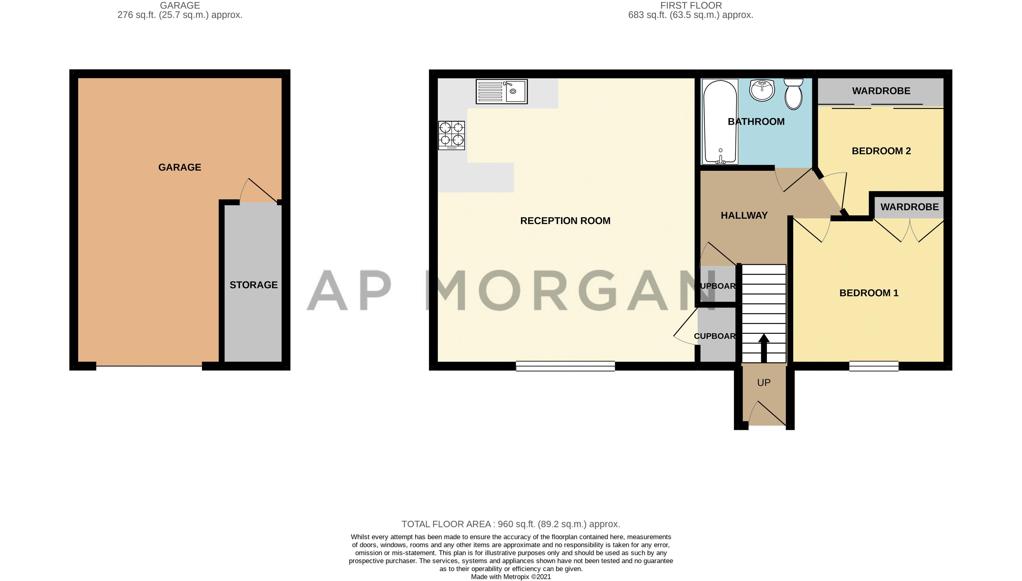 2 bed house for sale in East Works Drive - Property Floorplan