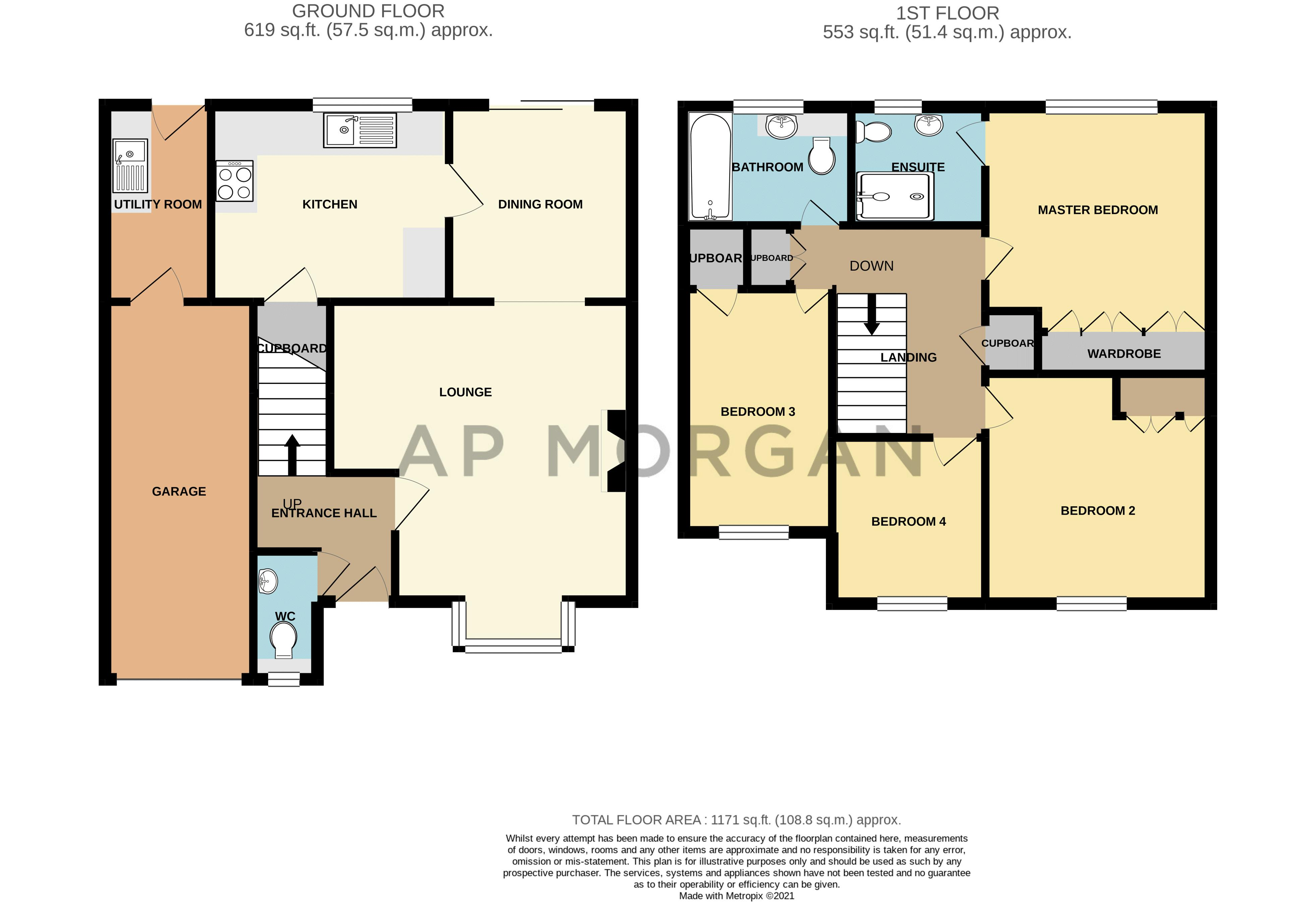 4 bed house for sale in Woburn Drive - Property Floorplan