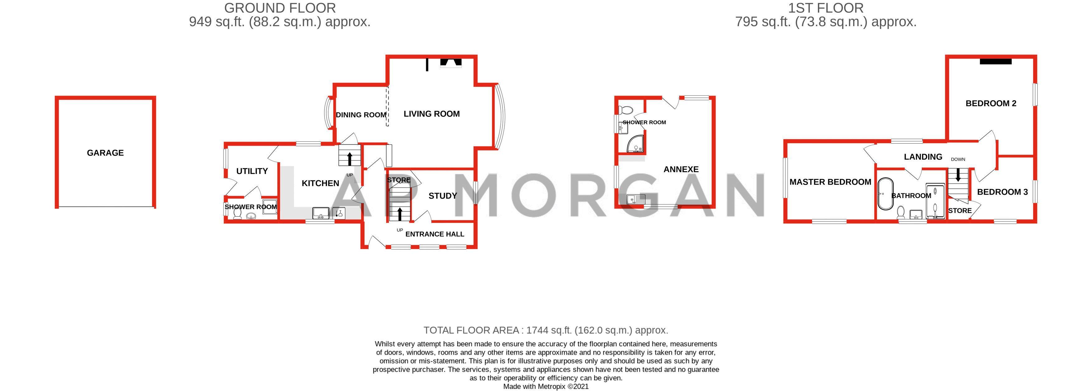 3 bed cottage for sale in Trickses Lane - Property Floorplan