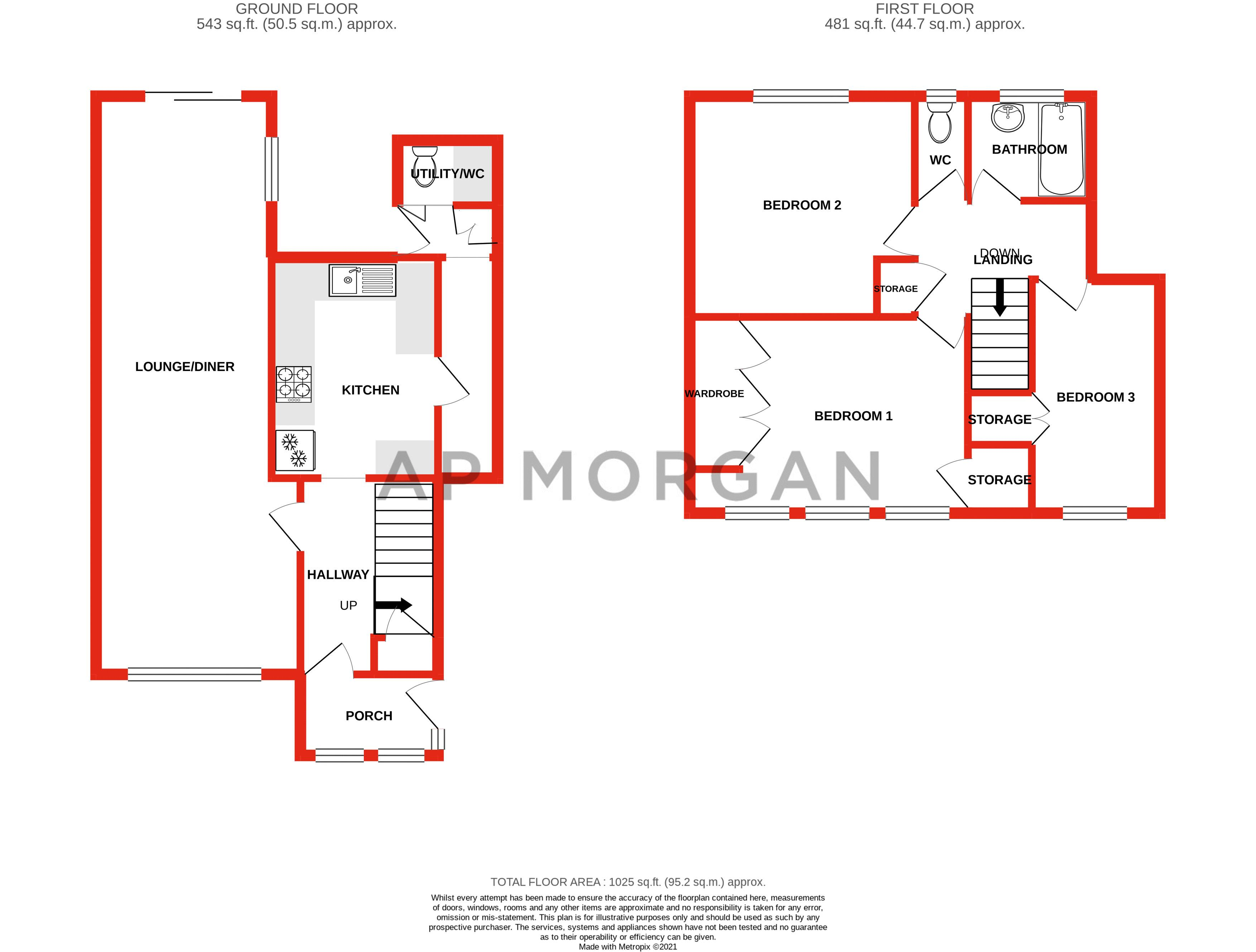 3 bed house for sale in Wychbury Road - Property Floorplan