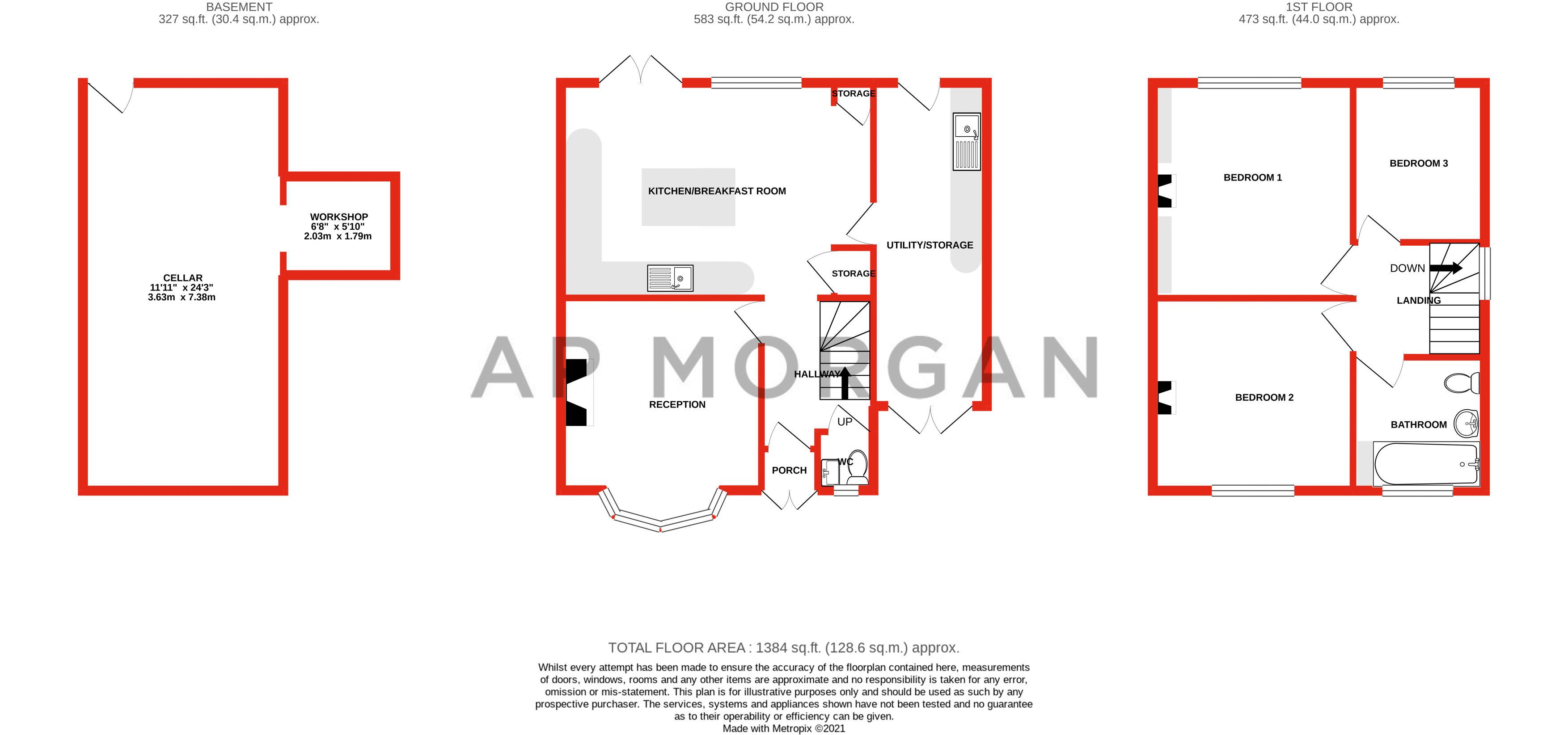 3 bed house for sale in Banners Lane - Property Floorplan