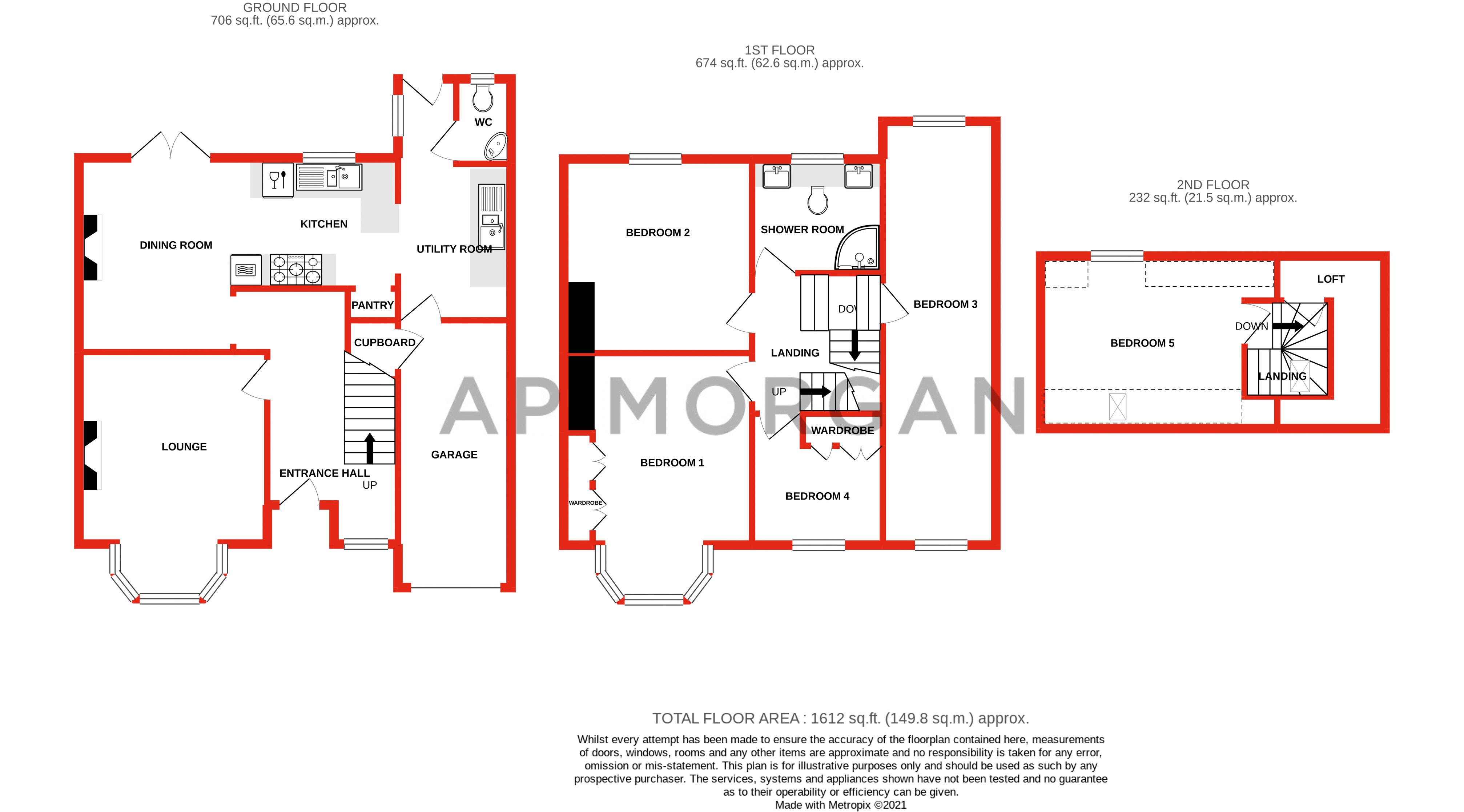 5 bed house for sale in Hanbury Hill - Property Floorplan