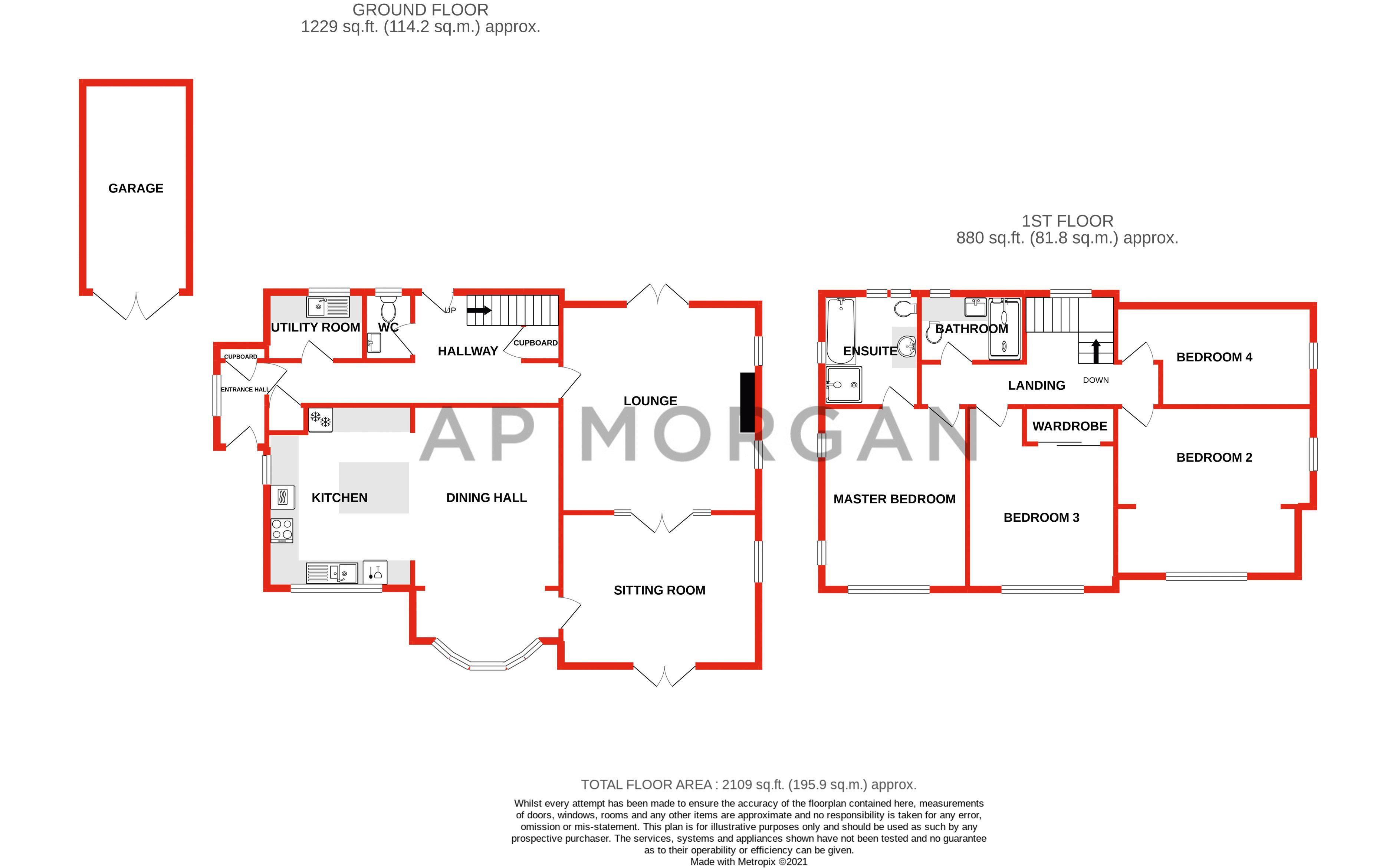4 bed house for sale in Blakebrook - Property Floorplan