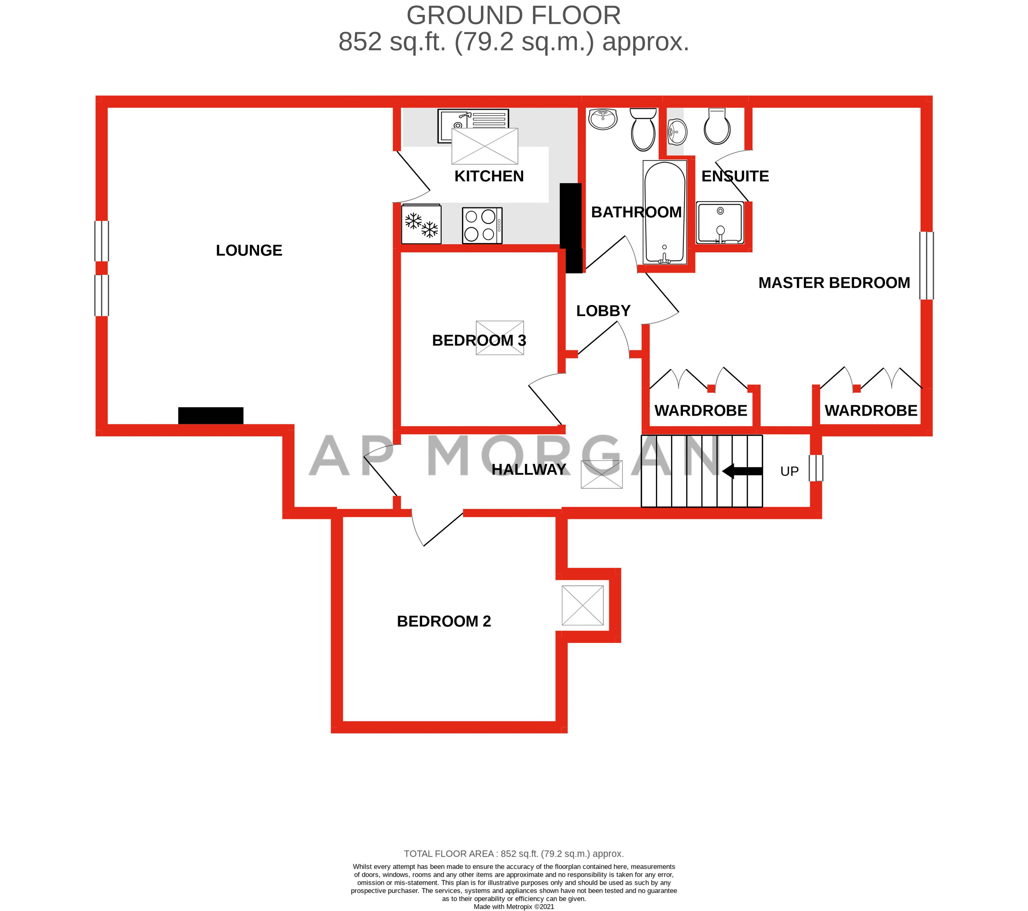 3 bed flat for sale in 262 Hagley Road - Property Floorplan