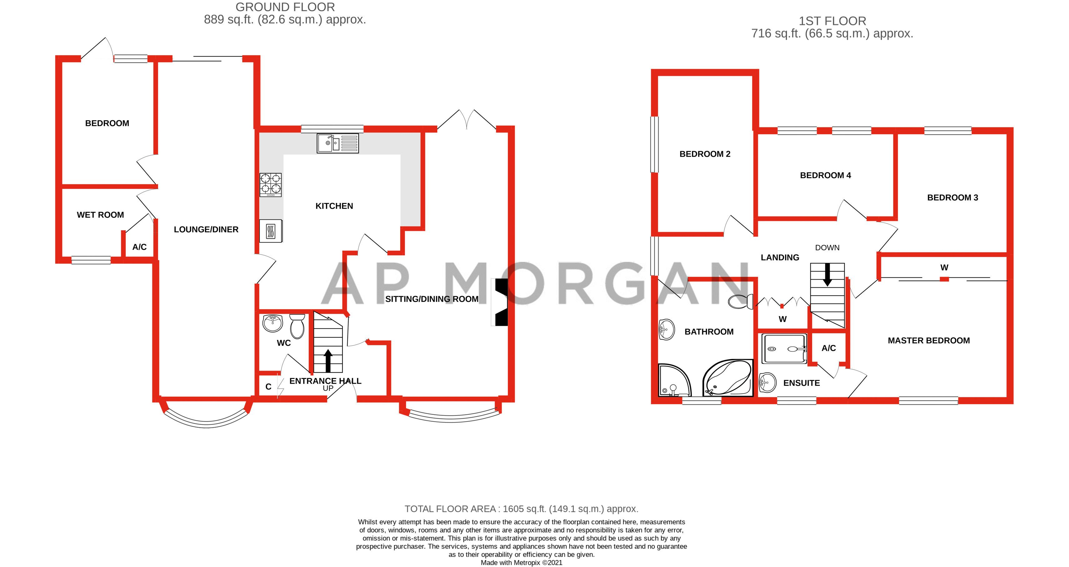 5 bed house for sale in Charlecote Close - Property Floorplan