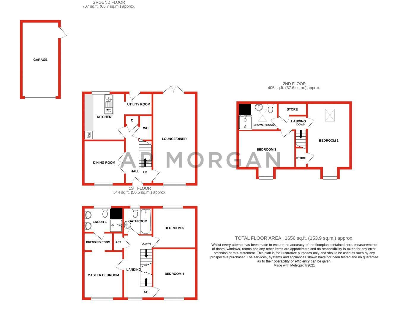 5 bed house for sale in Henzel Croft - Property Floorplan