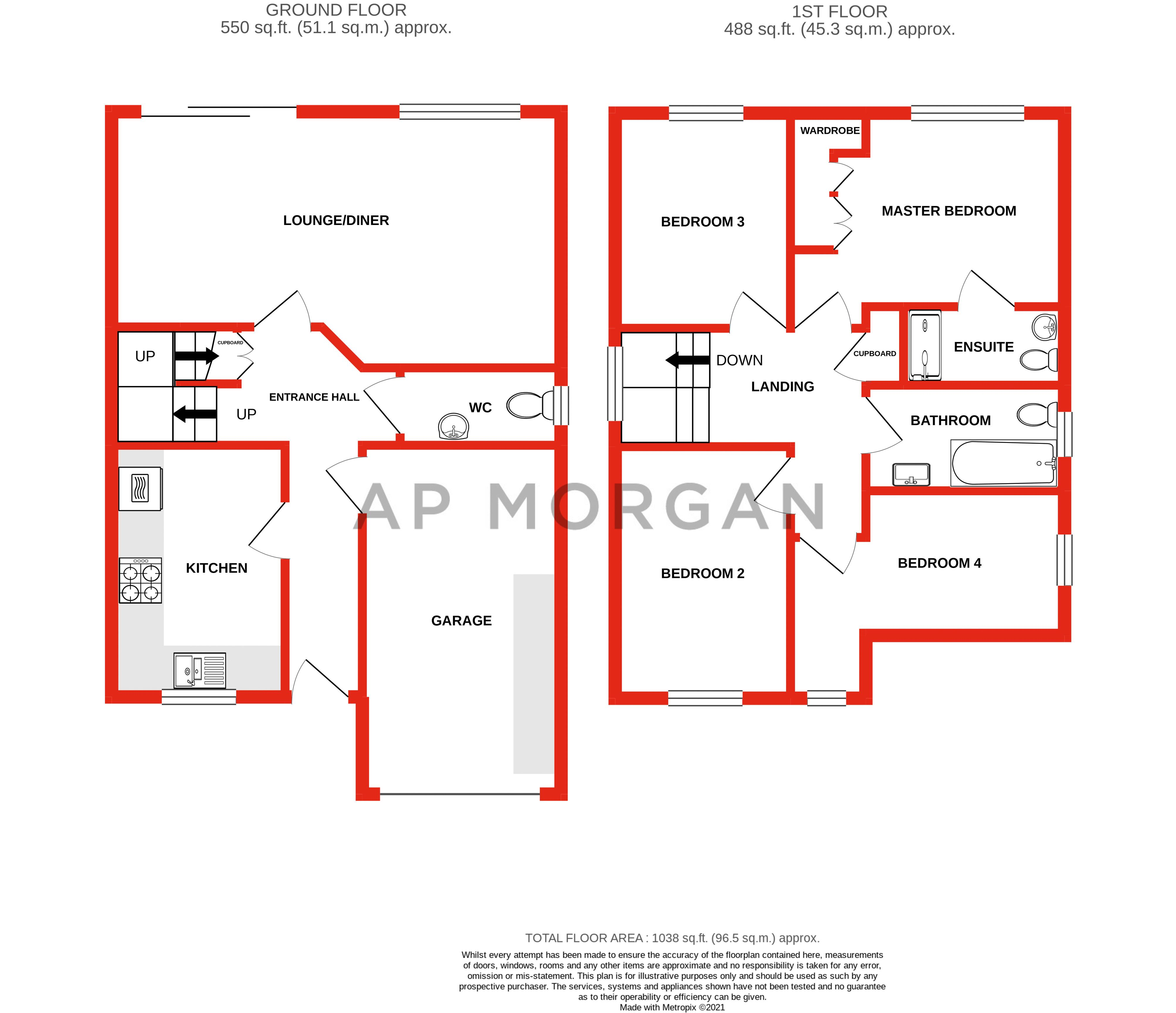 4 bed house for sale in Wynall Lane - Property Floorplan