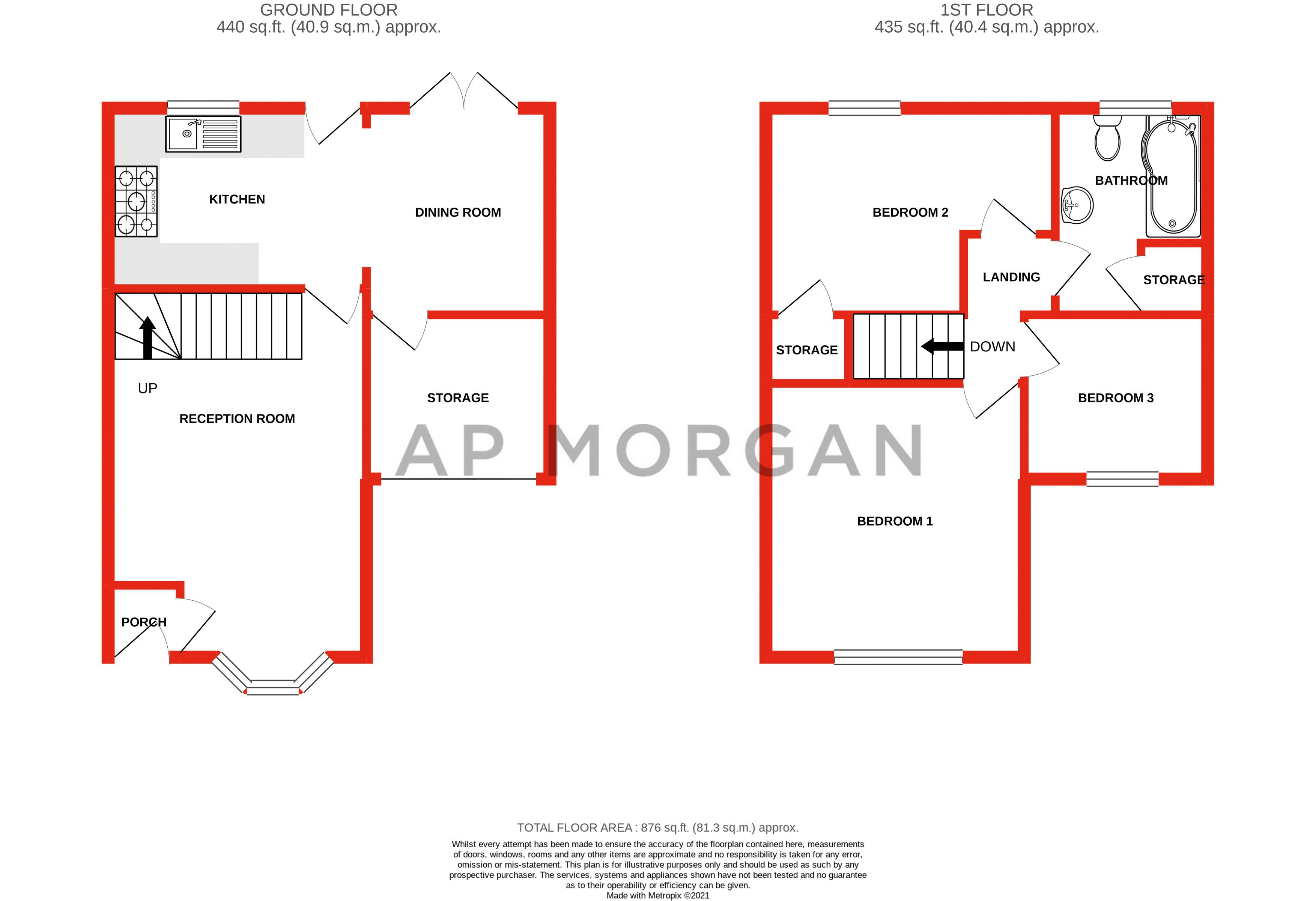 3 bed house for sale in Illey Close - Property Floorplan