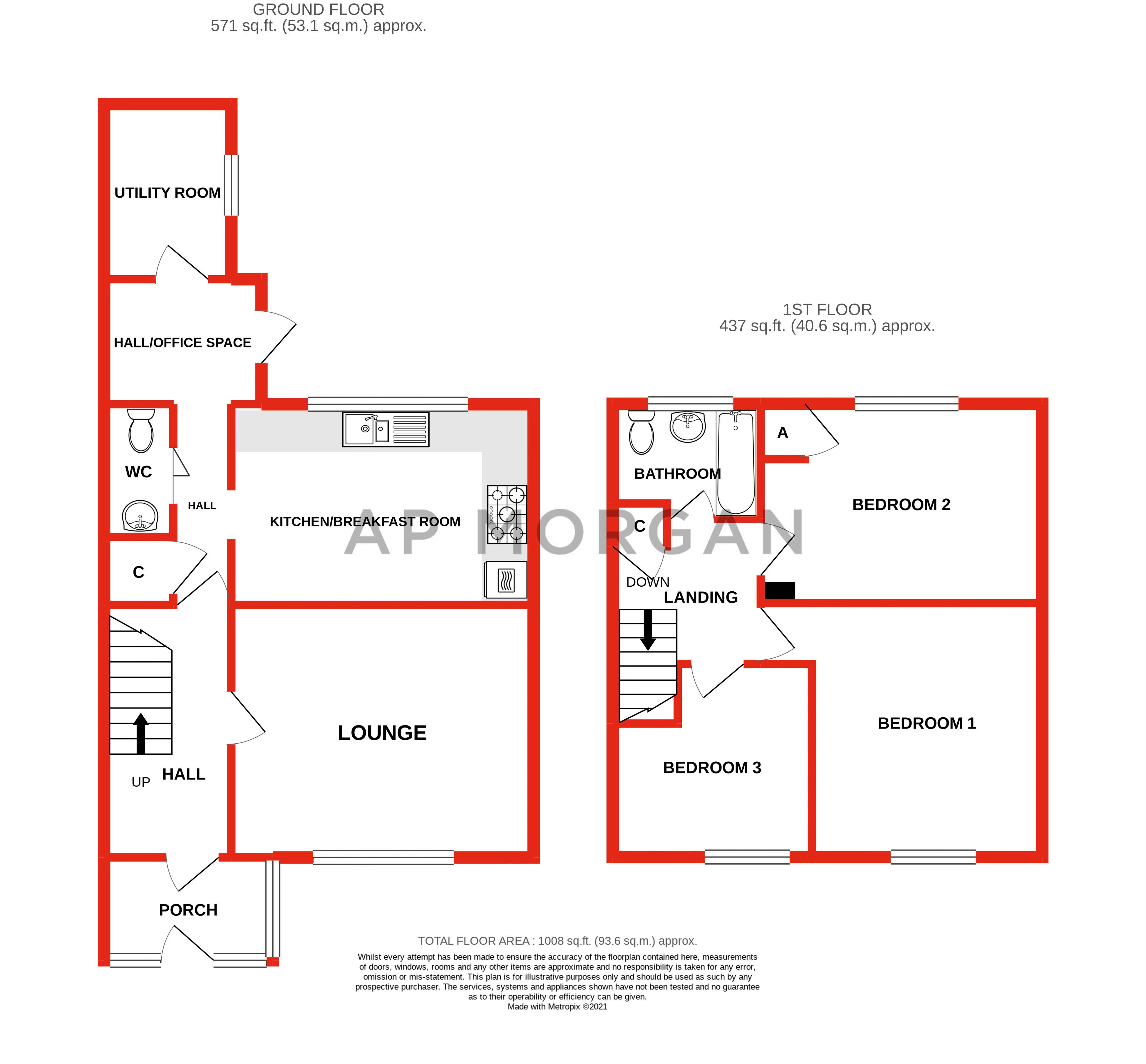 3 bed house for sale in Shelley Close - Property Floorplan