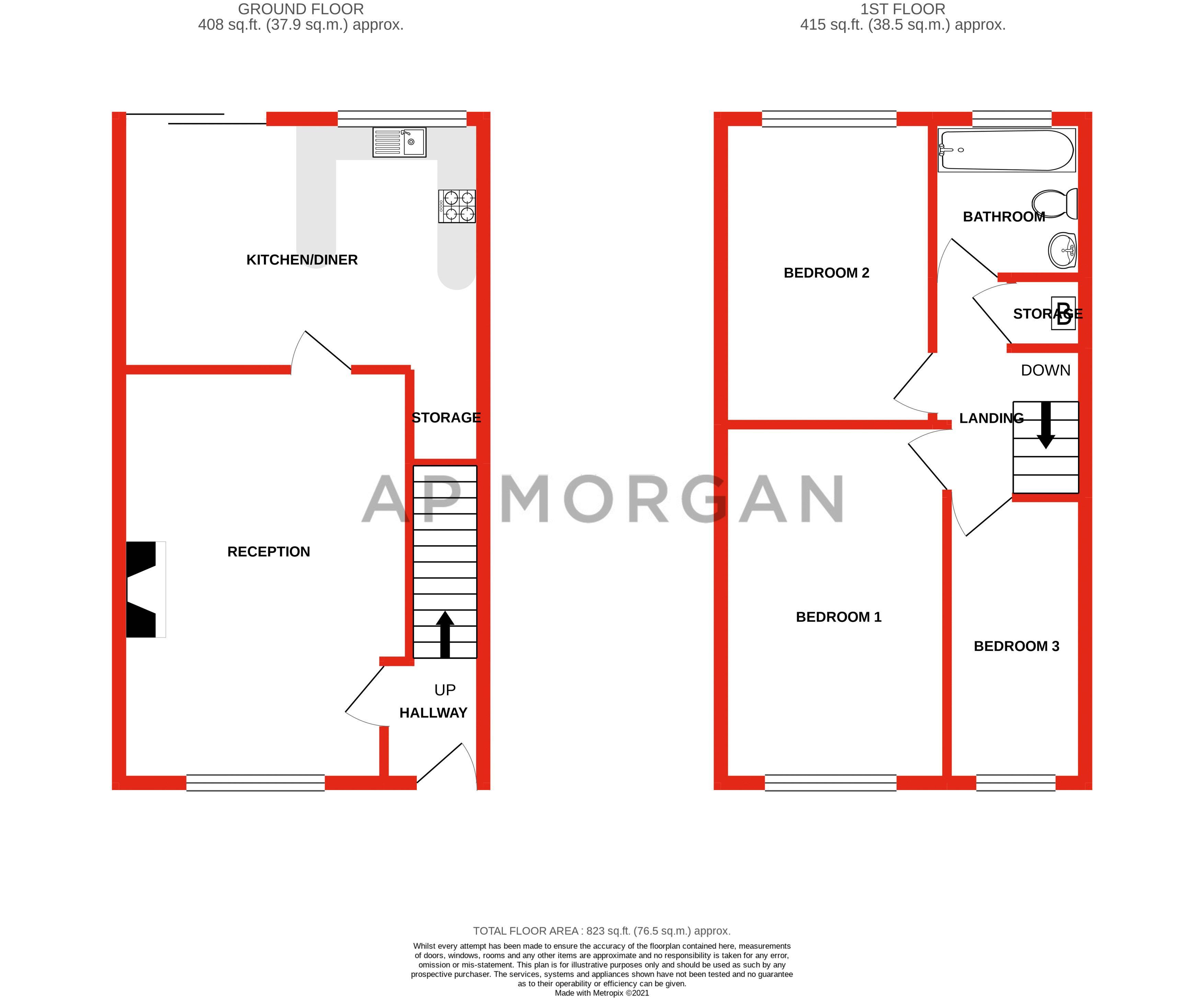 3 bed  for sale in Greenvale - Property Floorplan