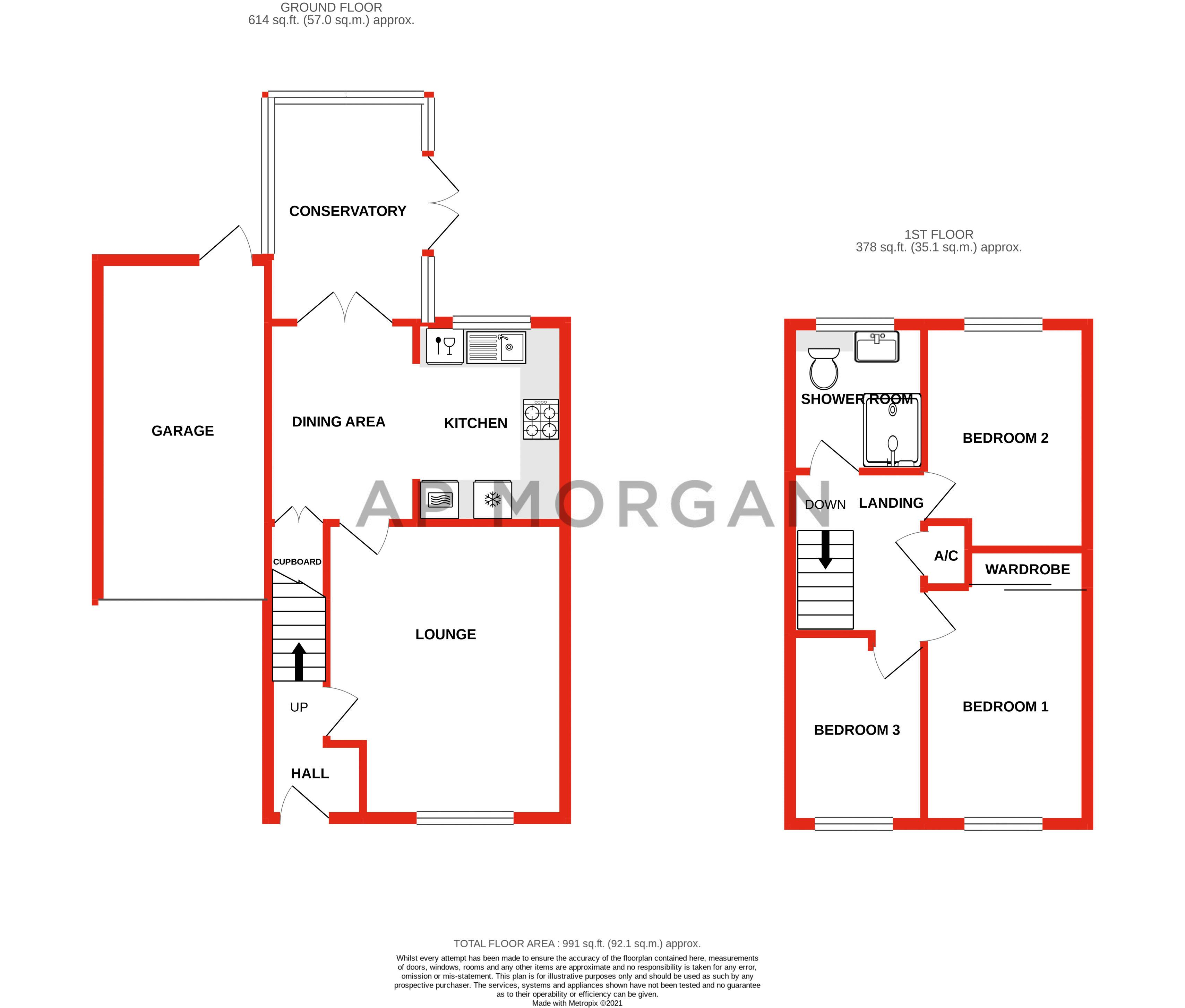 3 bed house for sale in Foxcote Close - Property Floorplan