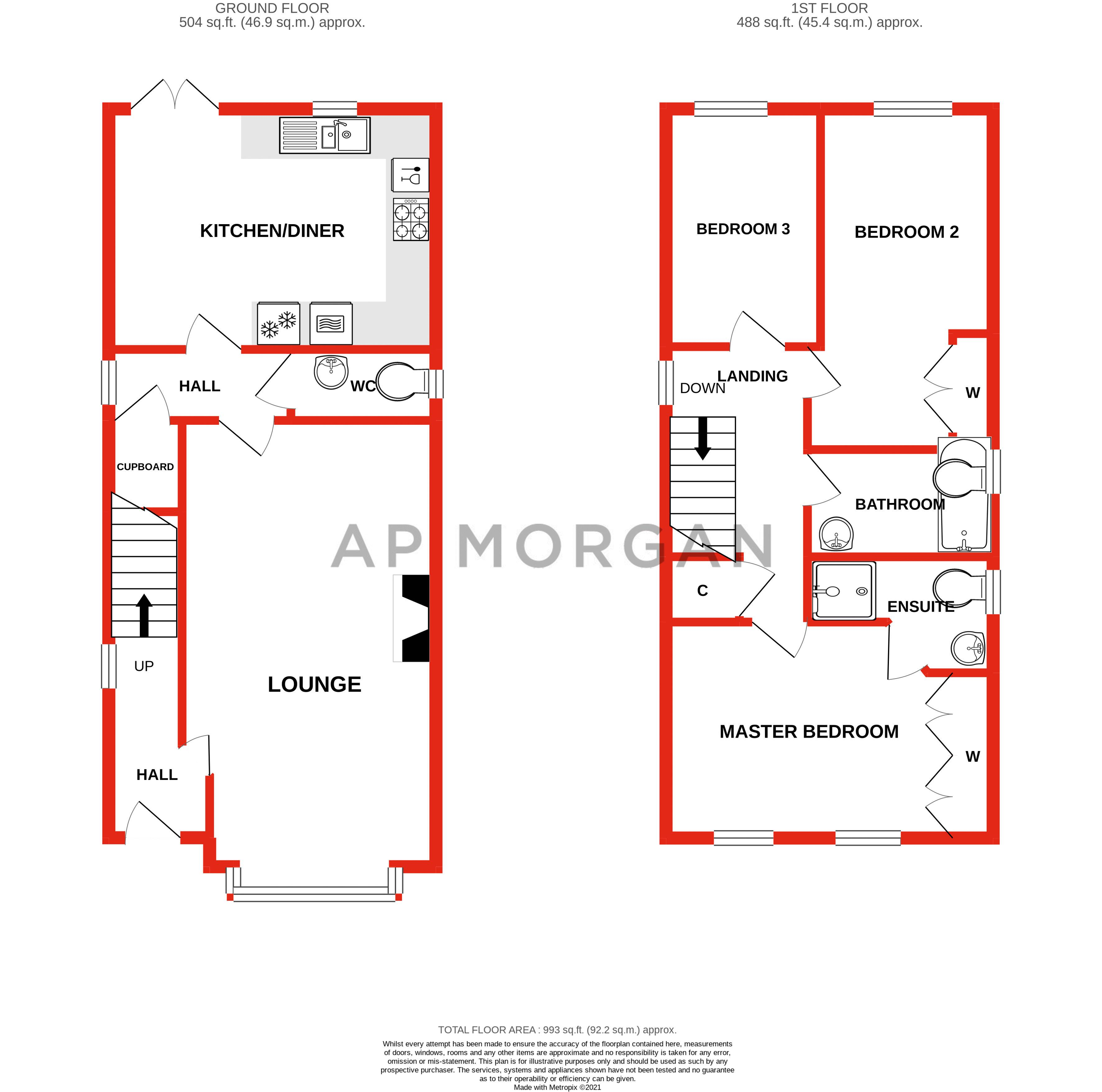 3 bed house for sale in Shrubbery Road - Property Floorplan