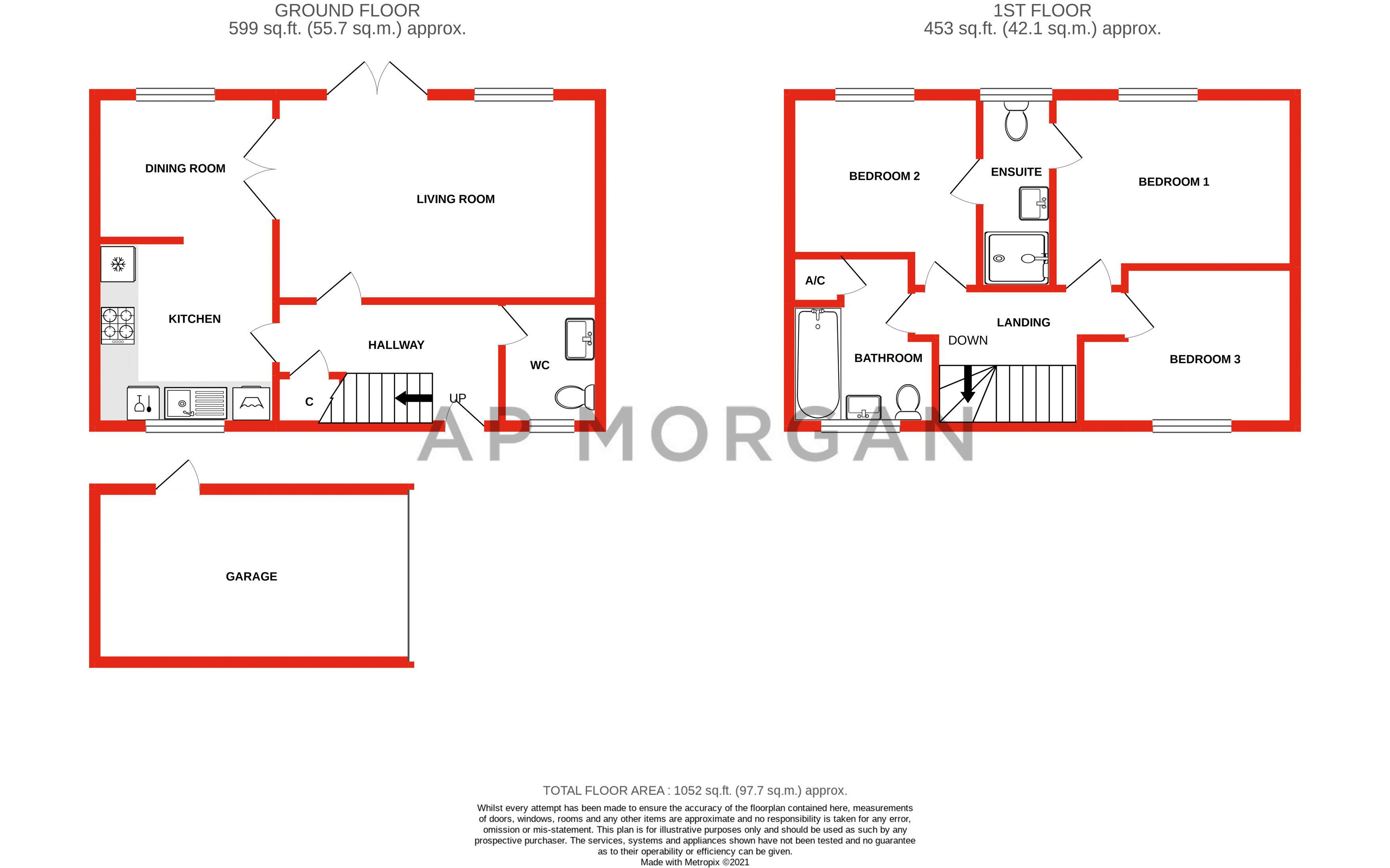 3 bed house for sale in Foregate Street - Property Floorplan
