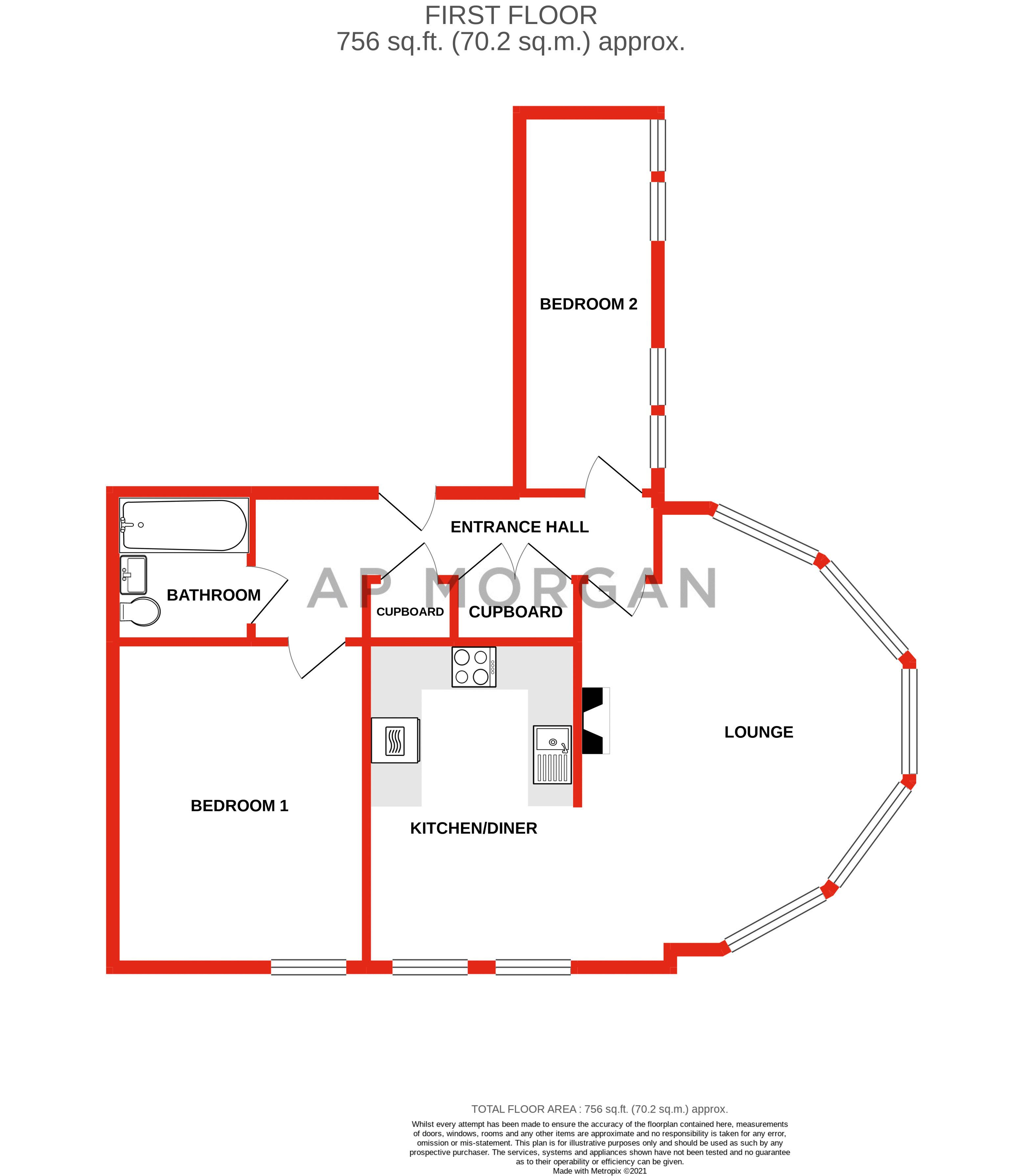 2 bed flat for sale in Hagley Road - Property Floorplan