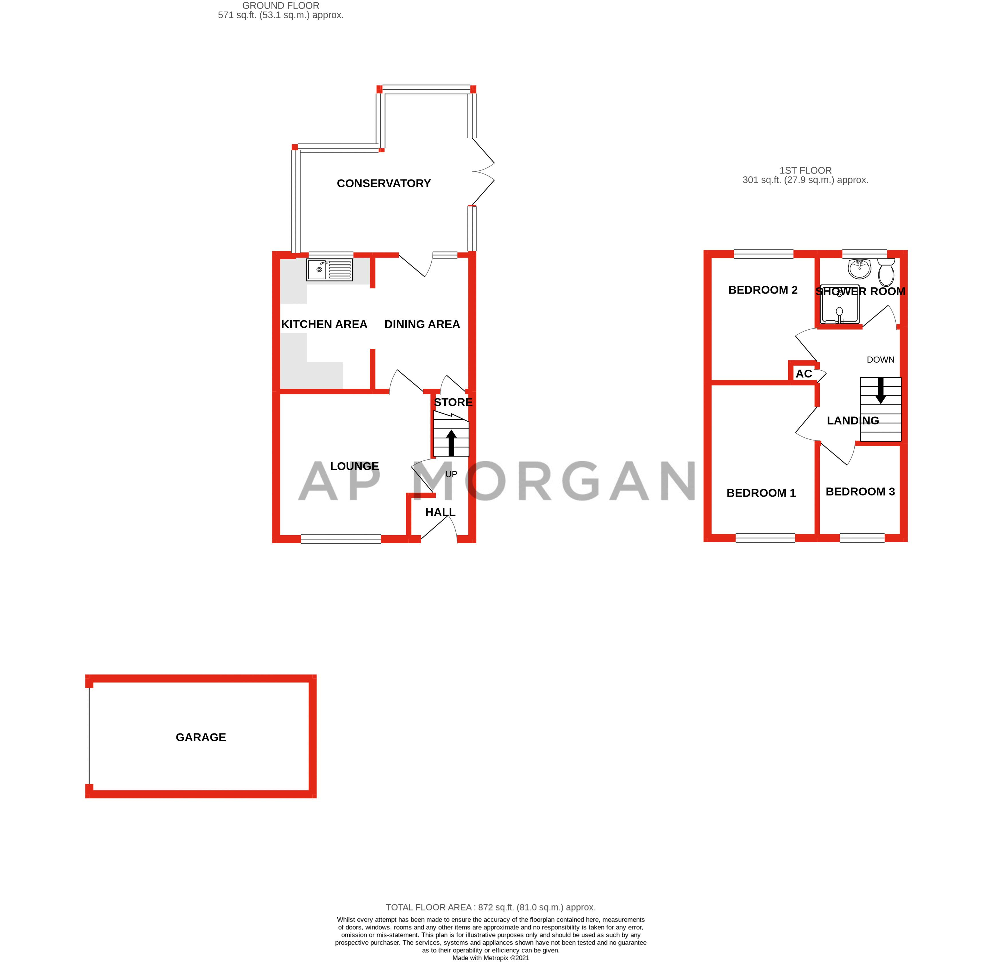3 bed house for sale in Appletree Close - Property Floorplan