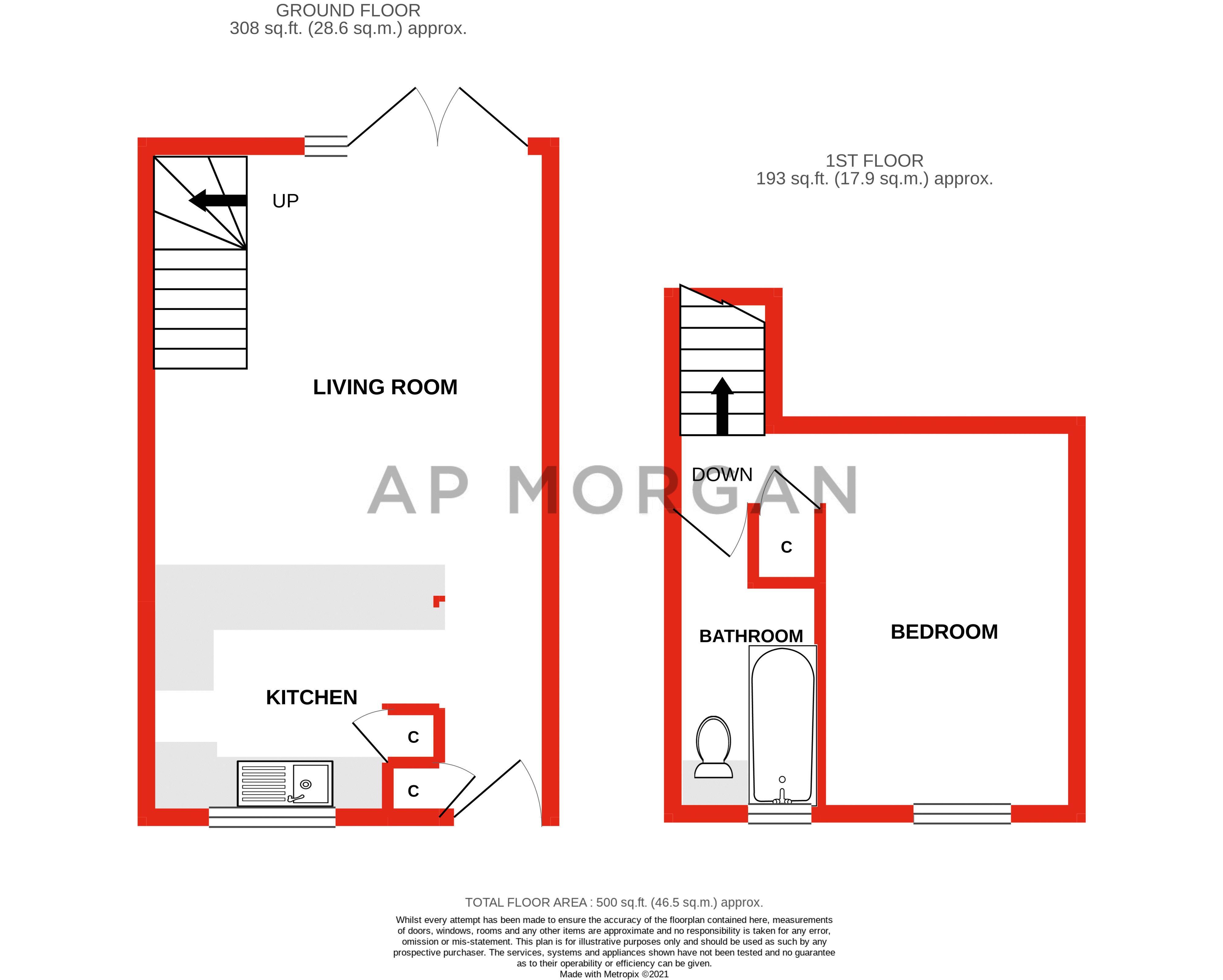1 bed house for sale in Barley Croft - Property Floorplan