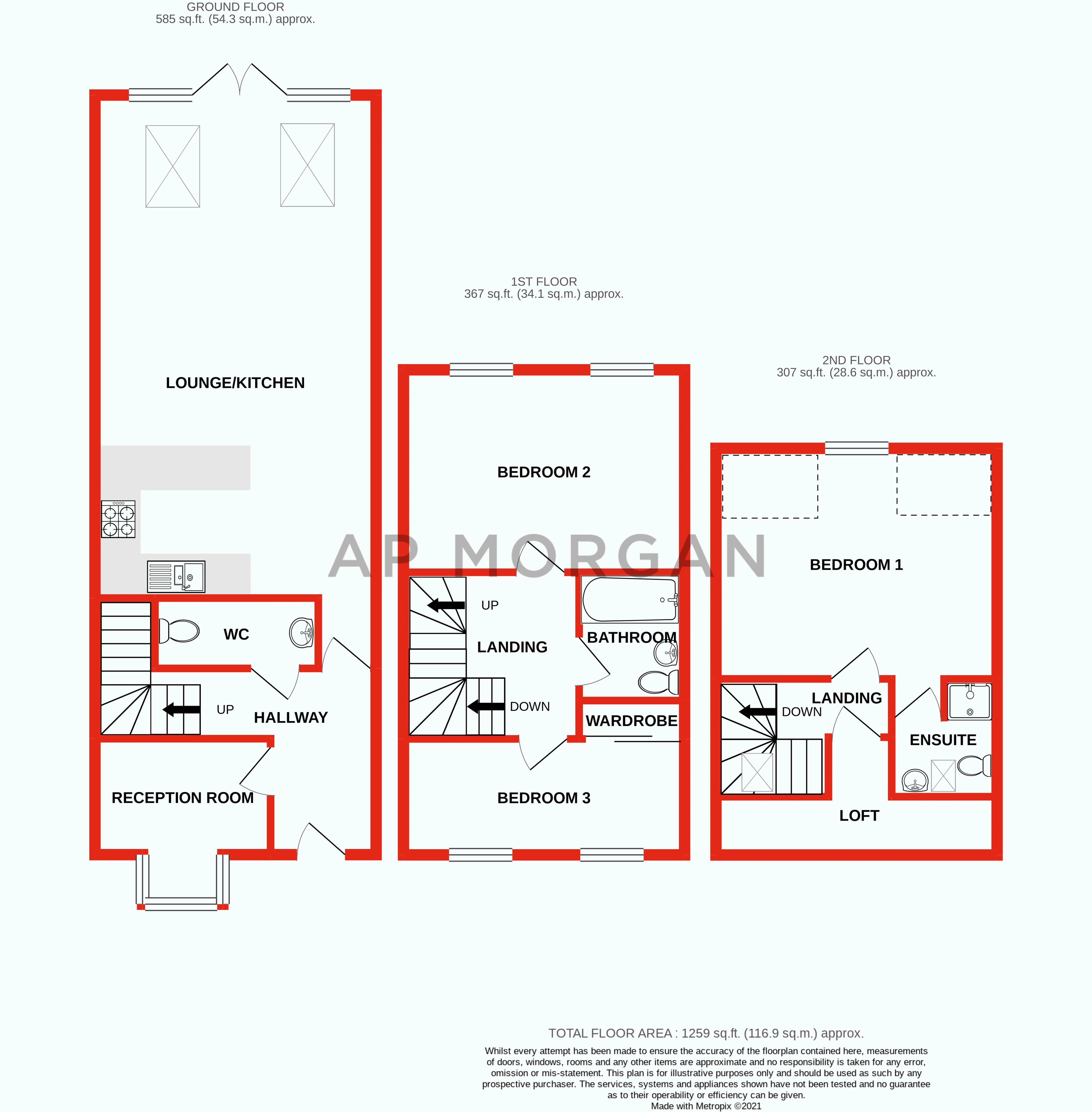 3 bed house for sale in Cobden Street - Property Floorplan