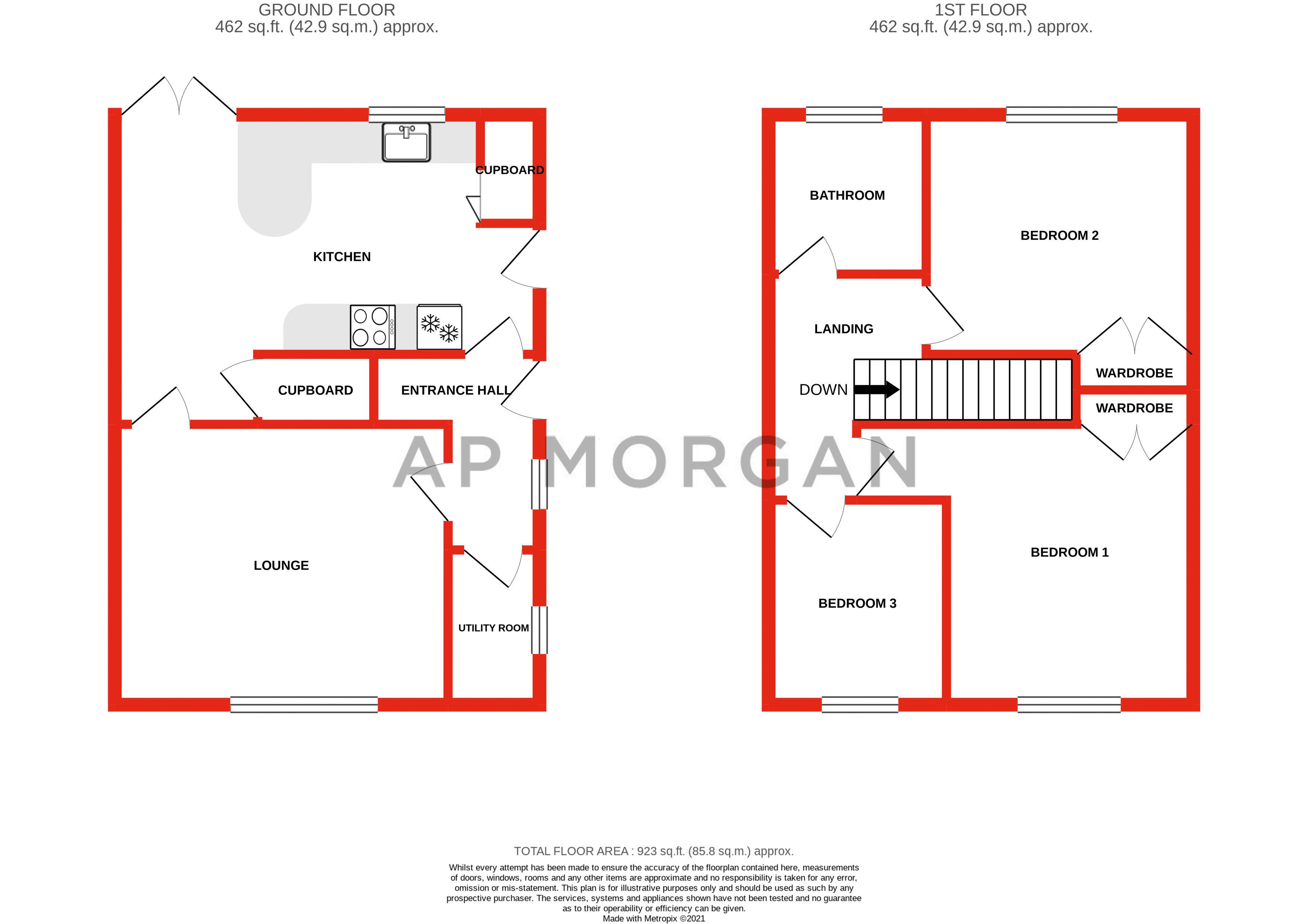 3 bed house for sale in Withymoor Road - Property Floorplan