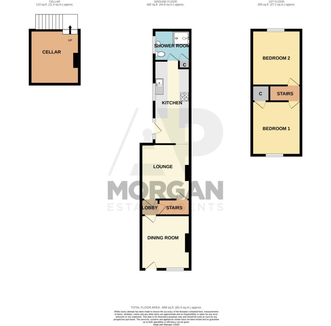 2 bed terraced for sale in King William Street, Amblecote - Property Floorplan