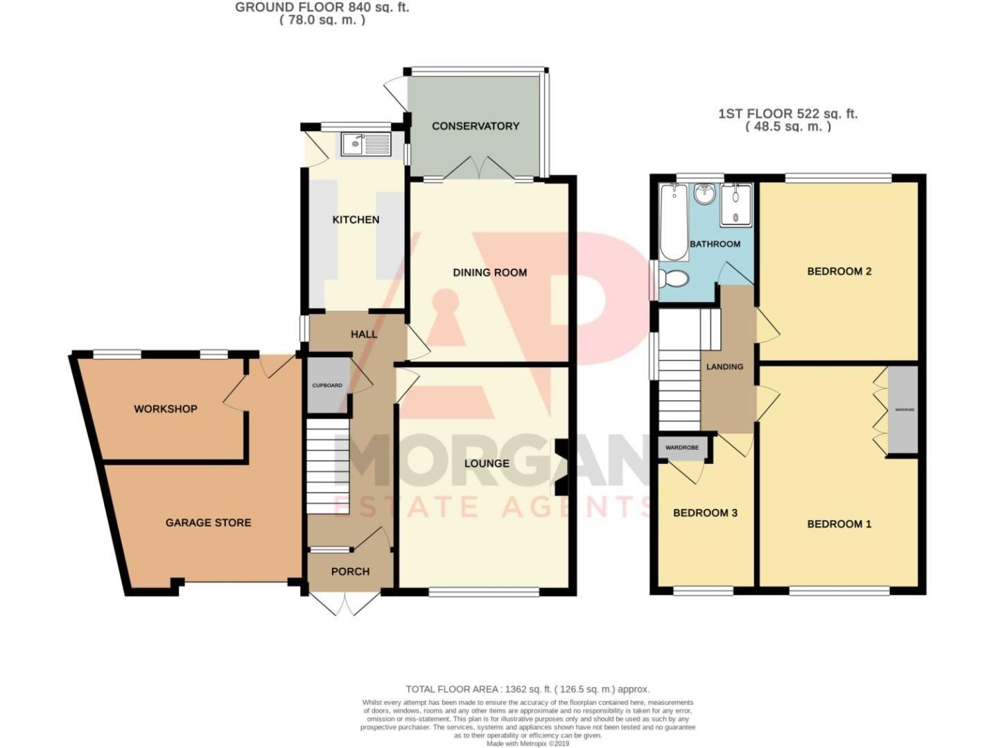3 bed semi-detached for sale in Vicarage Crescent, Redditch - Property Floorplan