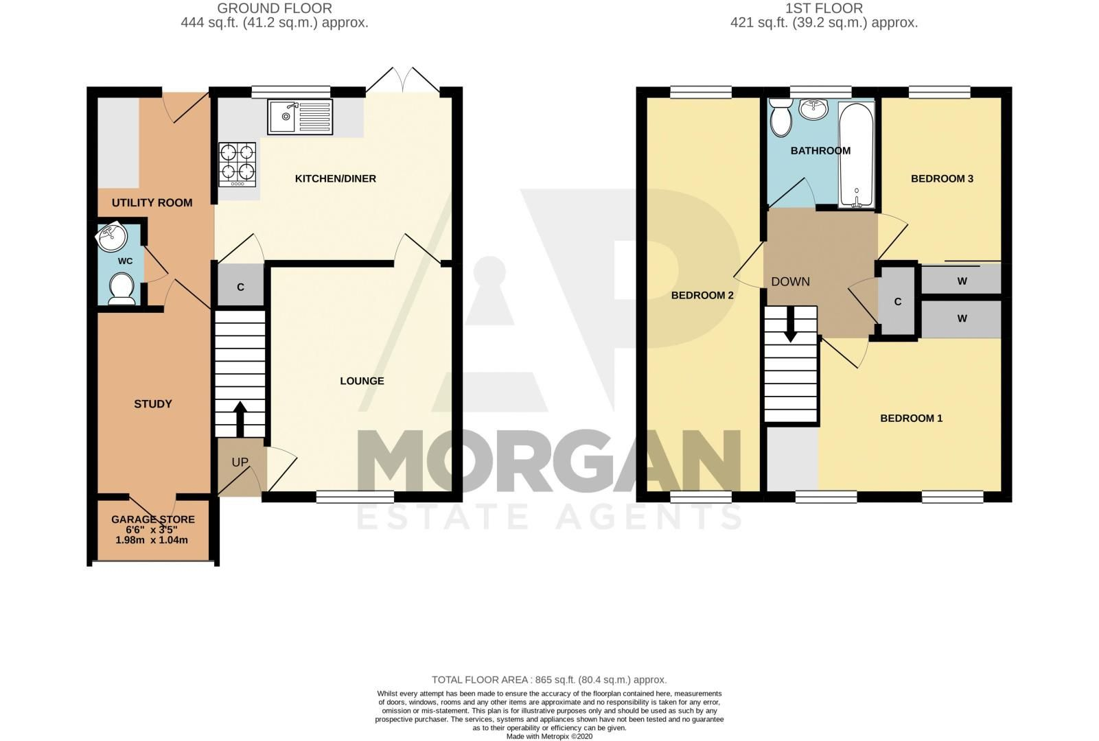 3 bed house for sale in Michaelwood Close - Property Floorplan