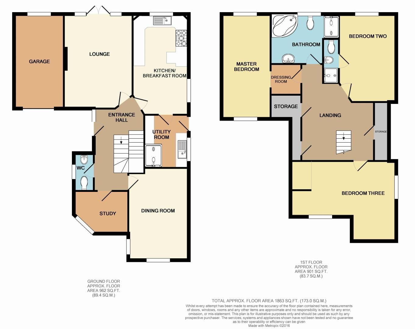3 bed house for sale in Kestrel View - Property Floorplan