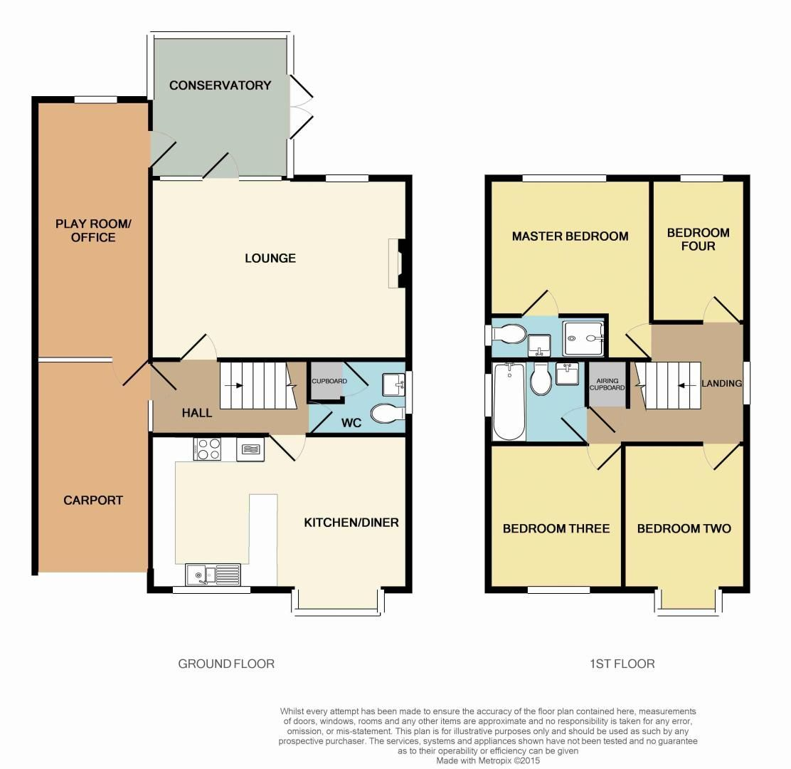 4 bed house for sale in Fairbourne Gardens - Property Floorplan