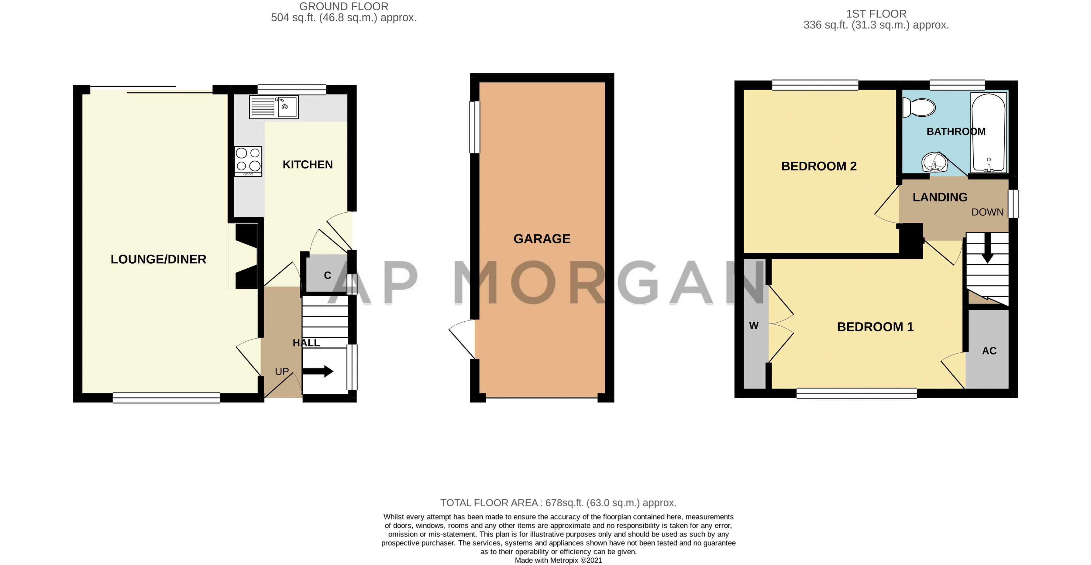 2 bed house for sale in Flavel Road - Property Floorplan