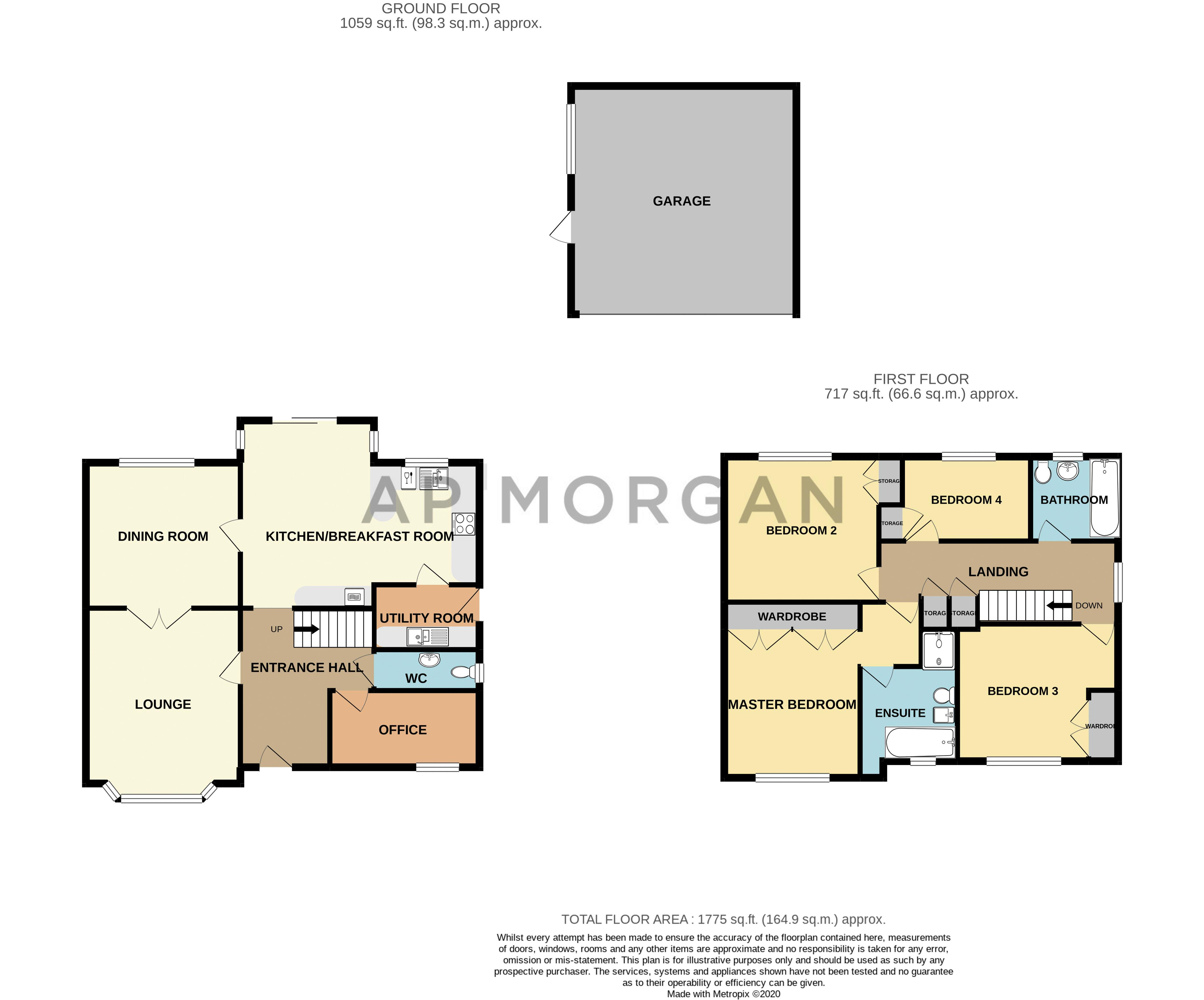 4 bed house for sale in Mallow Drive - Property Floorplan