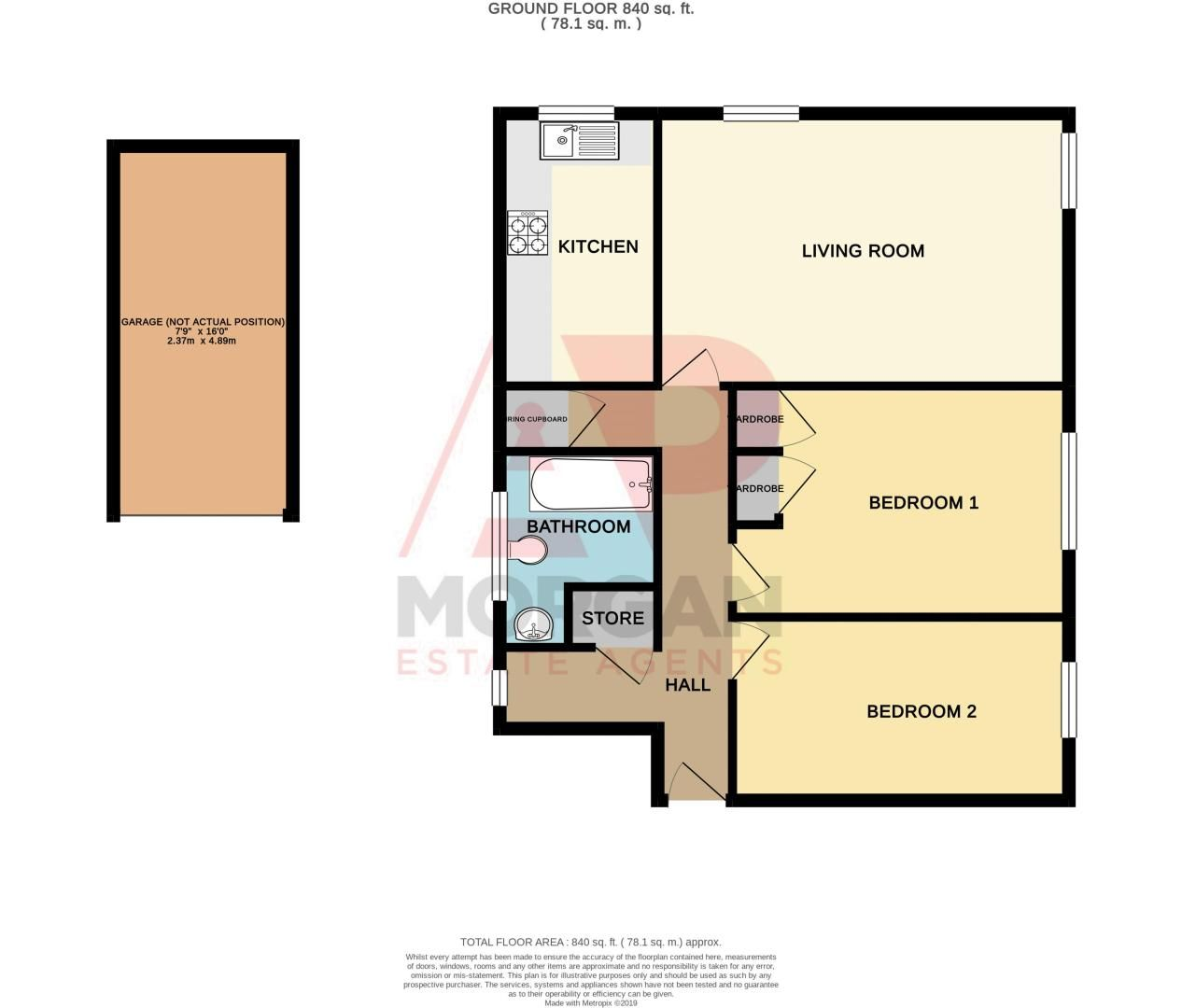 2 bed flat for sale in New Road - Property Floorplan