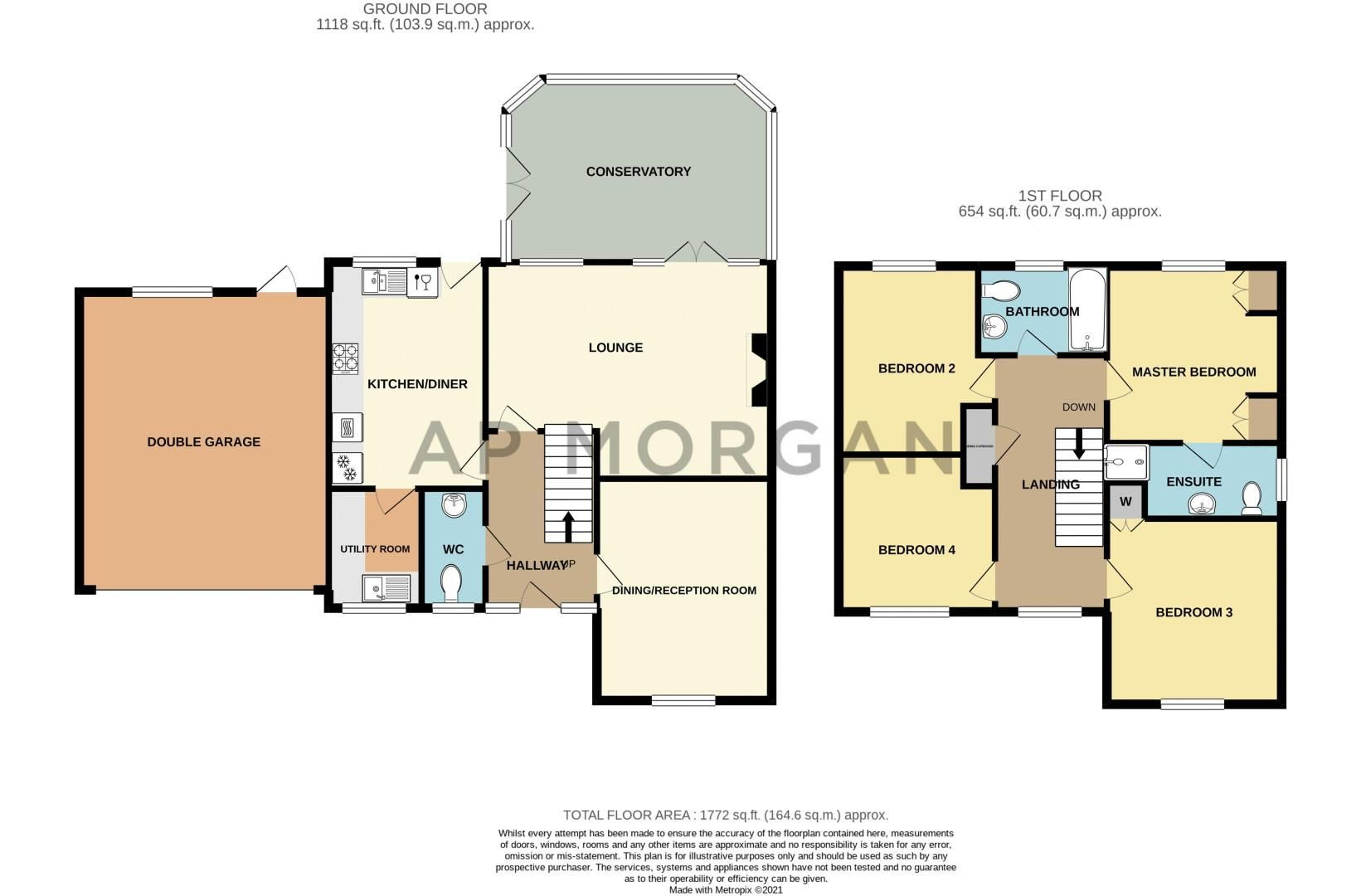4 bed house for sale in Crownhill Meadow - Property Floorplan