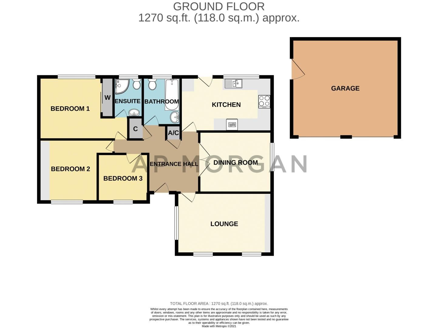 3 bed bungalow for sale in Partridge Lane - Property Floorplan