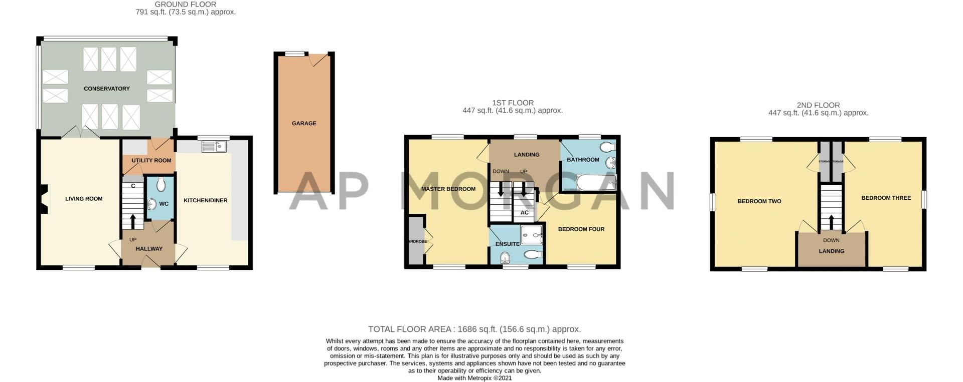 4 bed house for sale in Lily Green Lane - Property Floorplan
