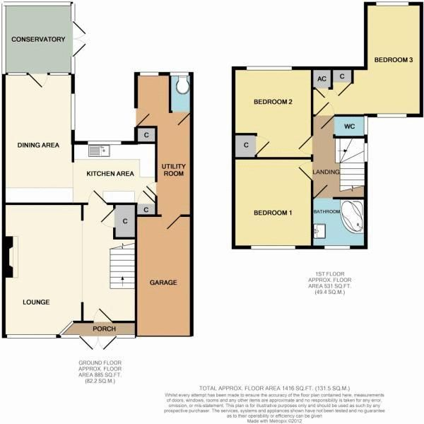 3 bed house for sale in Holmwood Drive - Property Floorplan