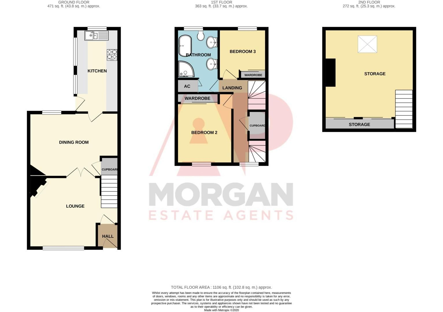 2 bed house for sale in All Saints Road - Property Floorplan