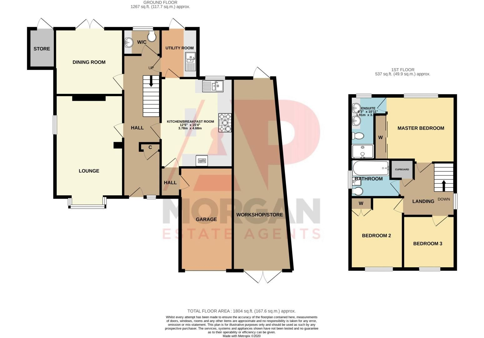 3 bed house for sale in St Georges Road - Property Floorplan