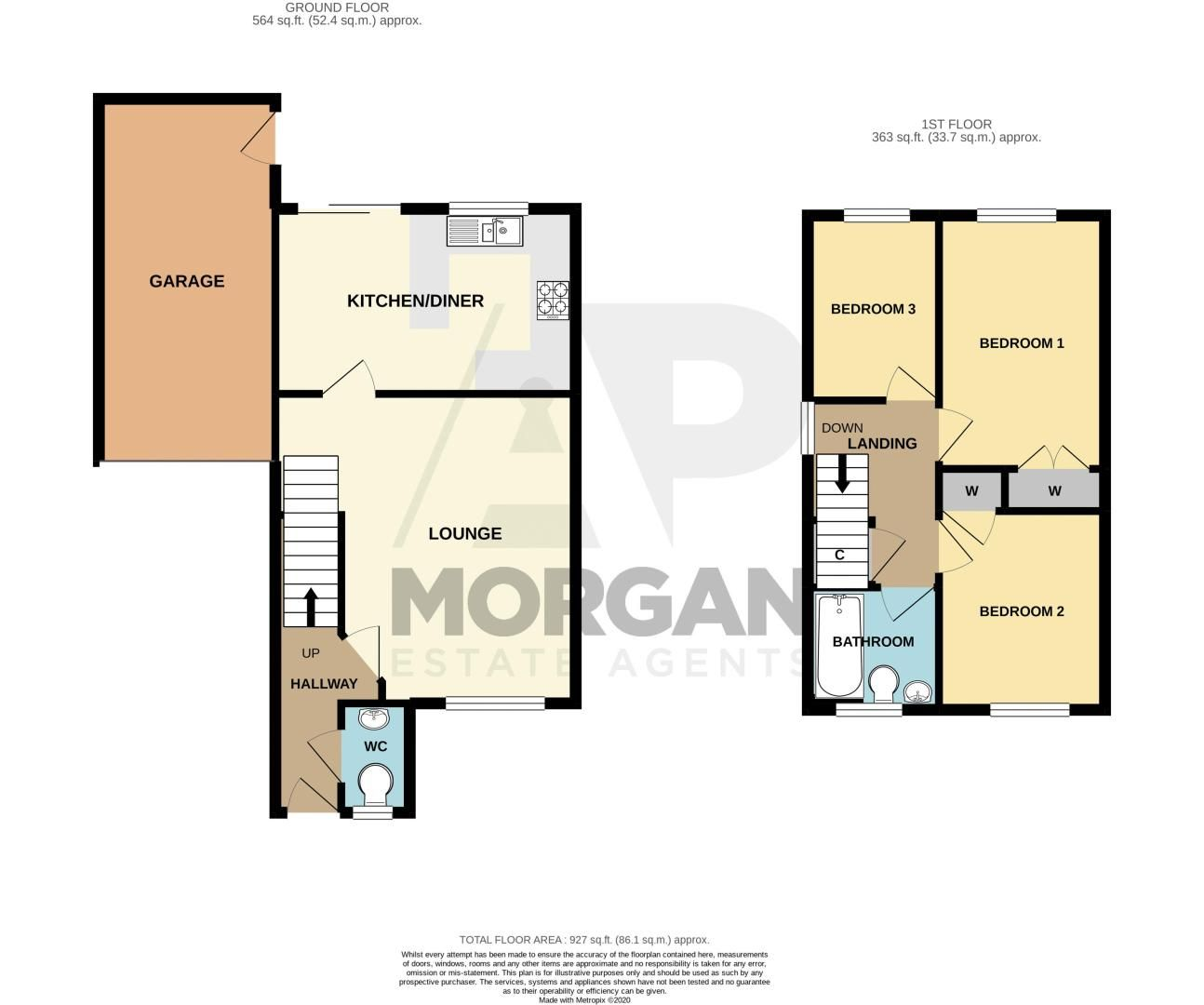 3 bed house for sale in Cleobury Close - Property Floorplan