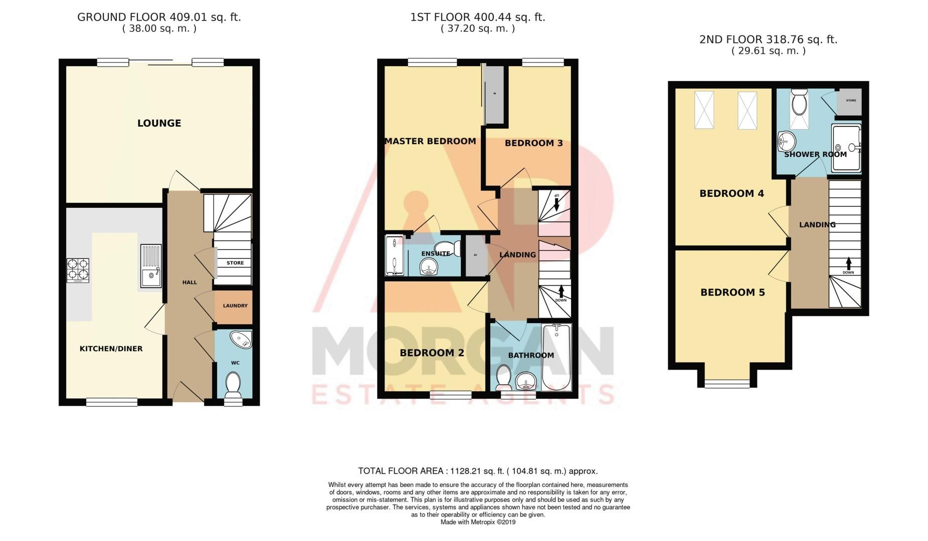 5 bed house for sale in Turntable Avenue - Property Floorplan