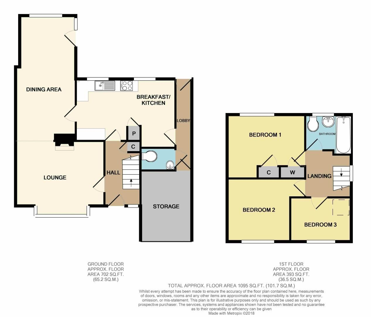 3 bed house for sale in Hopgardens Avenue - Property Floorplan