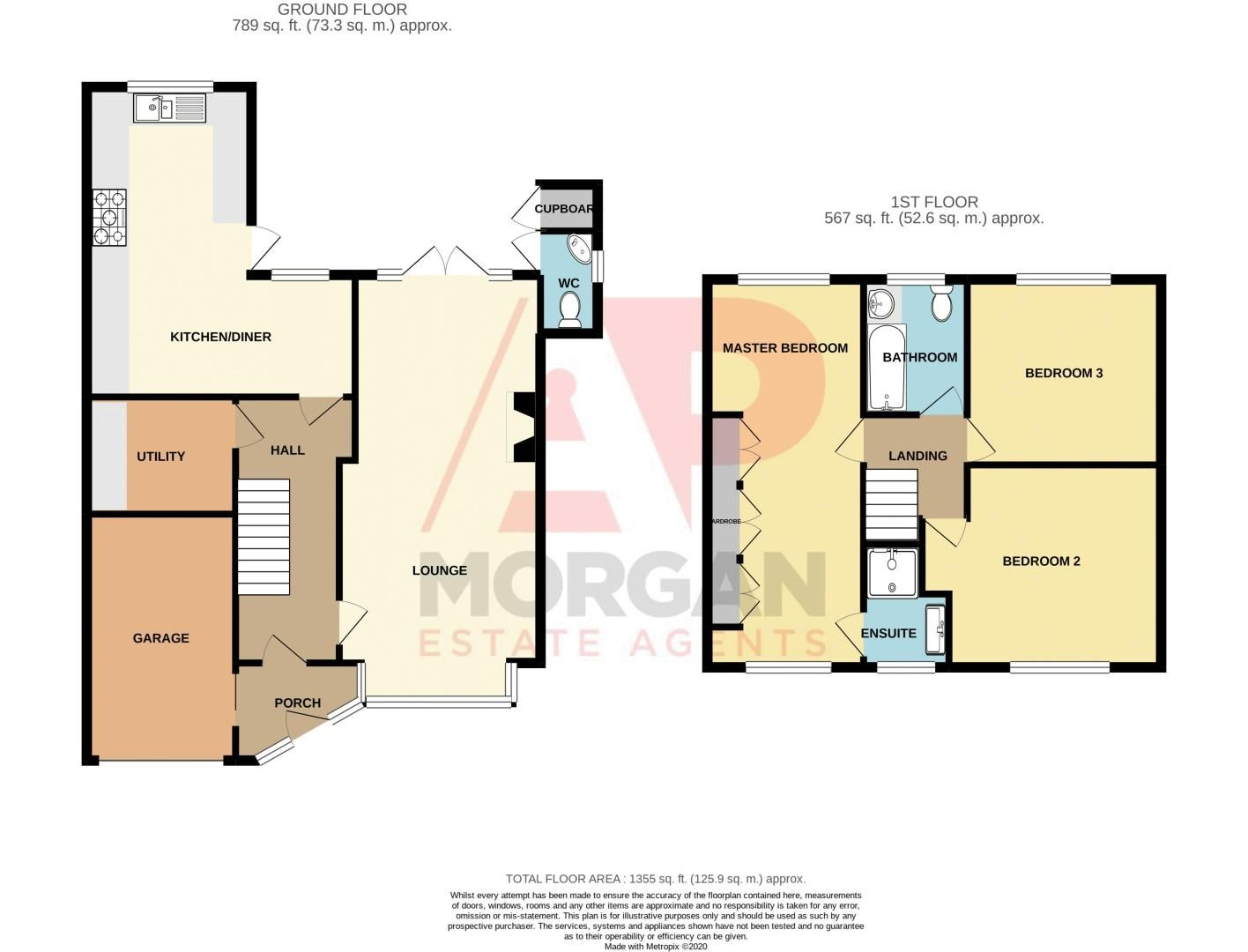 3 bed house for sale in Barley Mow Lane - Property Floorplan