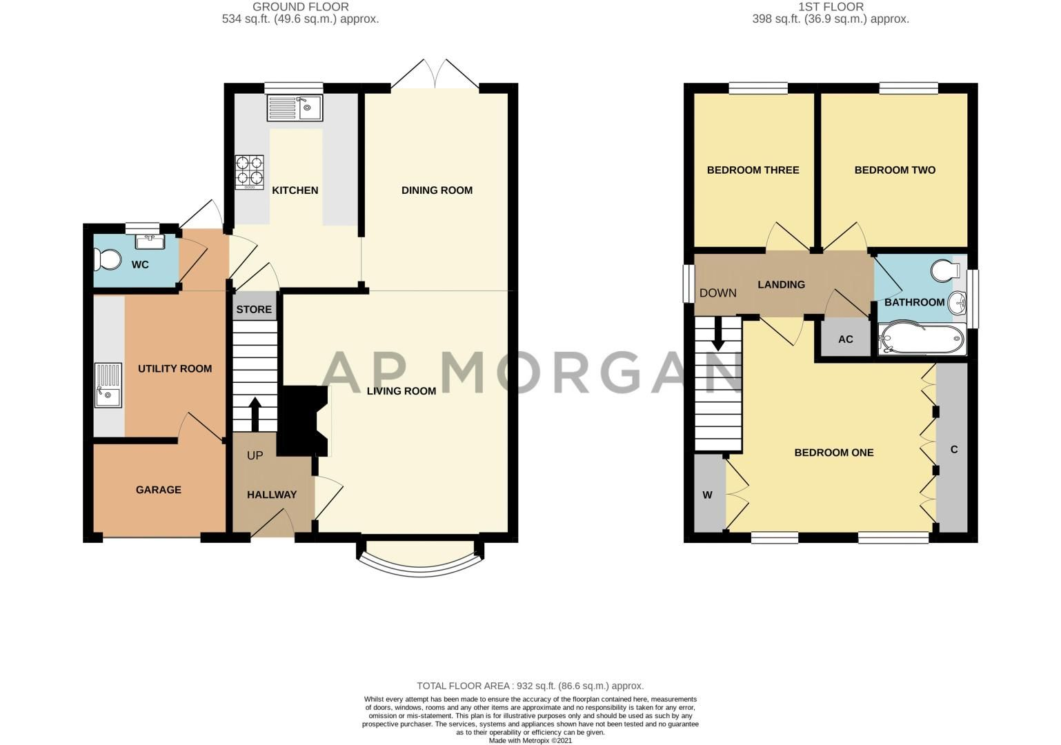 3 bed house for sale in Hollyberry Close - Property Floorplan