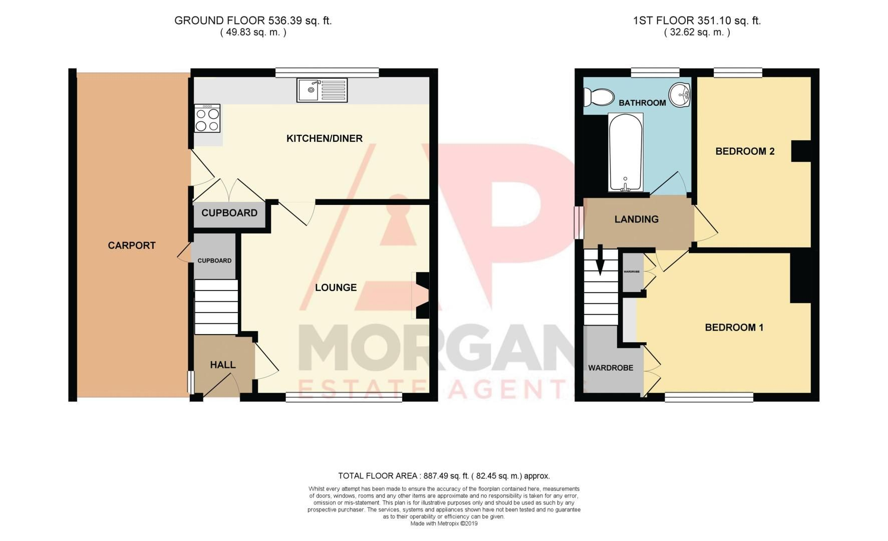 2 bed house for sale in Birmingham Road - Property Floorplan