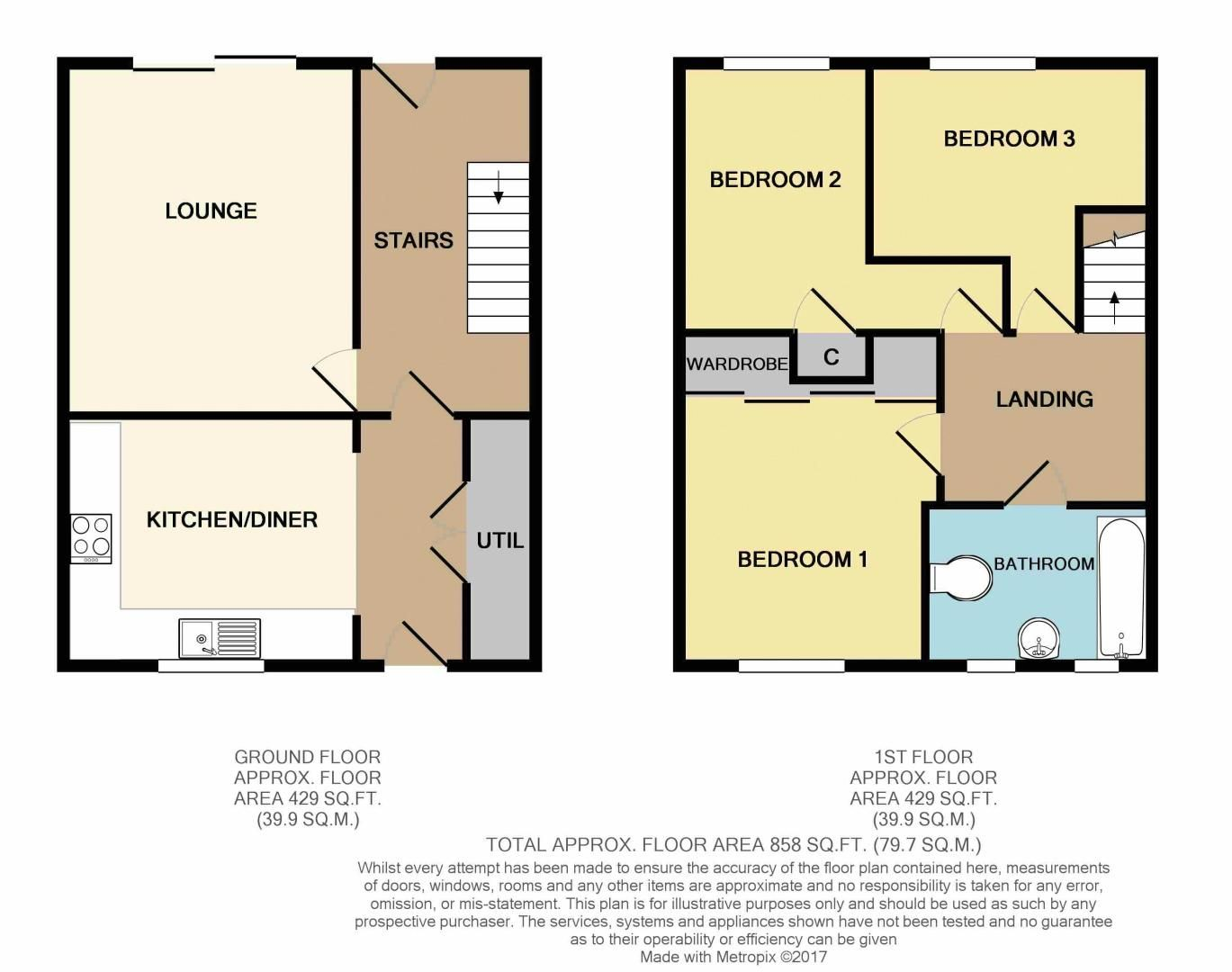 3 bed house for sale in Beoley Road West - Property Floorplan
