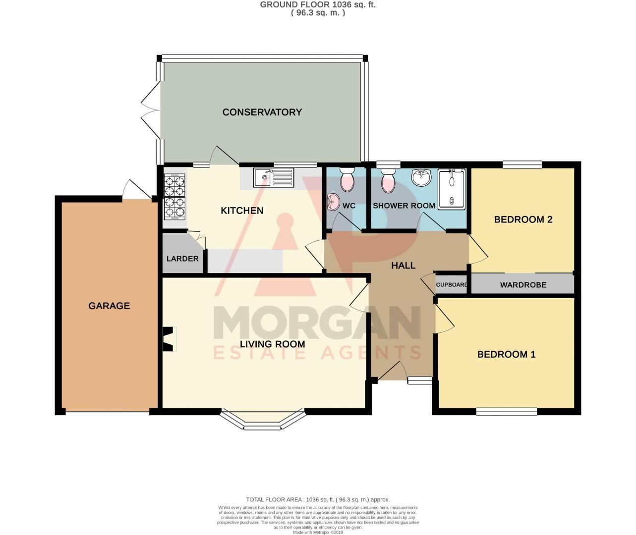 2 bed bungalow for sale in Radway Close - Property Floorplan