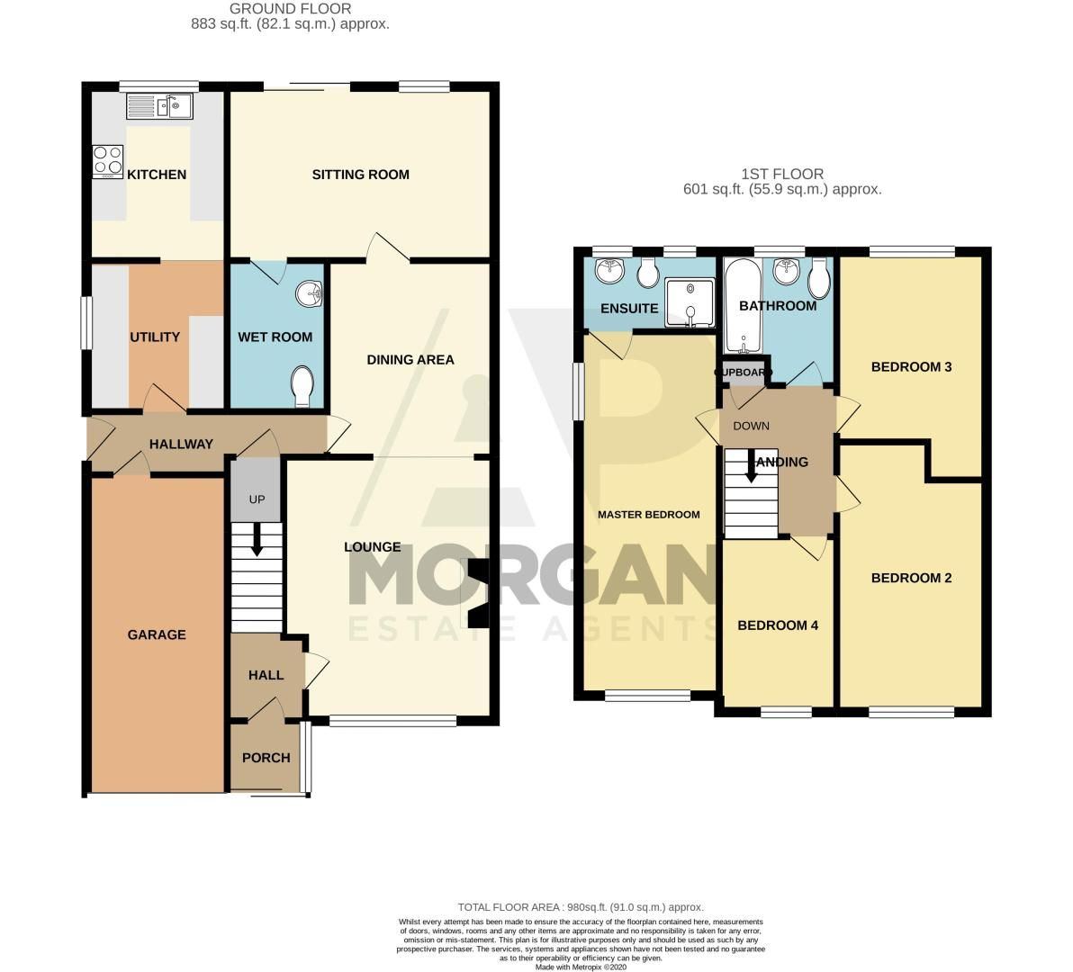 4 bed house for sale in Fulton Close - Property Floorplan