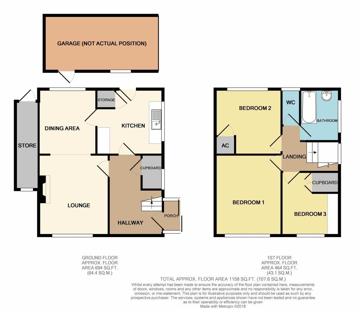 3 bed house for sale in Spadesbourne Road - Property Floorplan